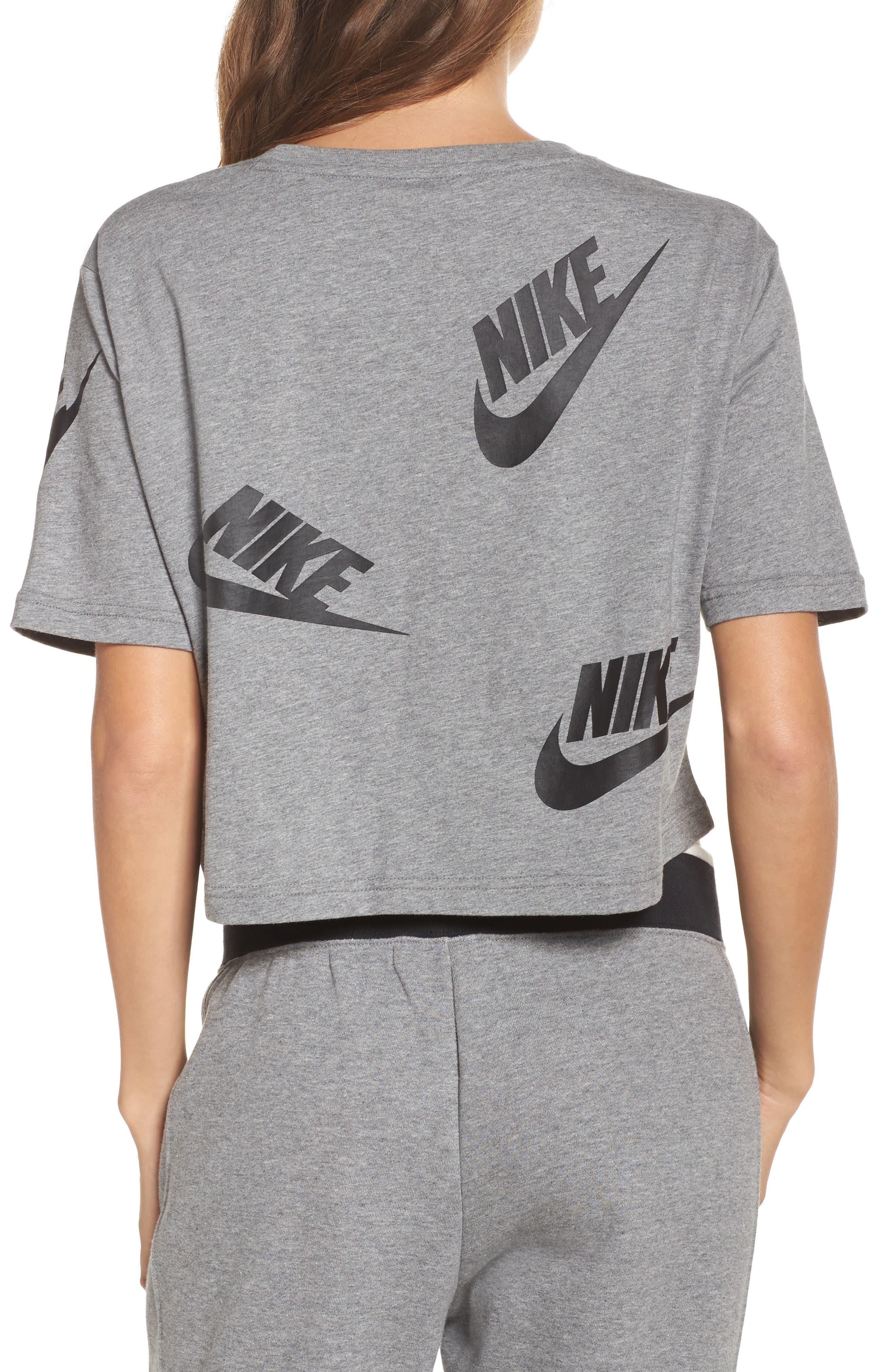 Alternate Image 2  - Nike Sportswear Futura Crop Tee
