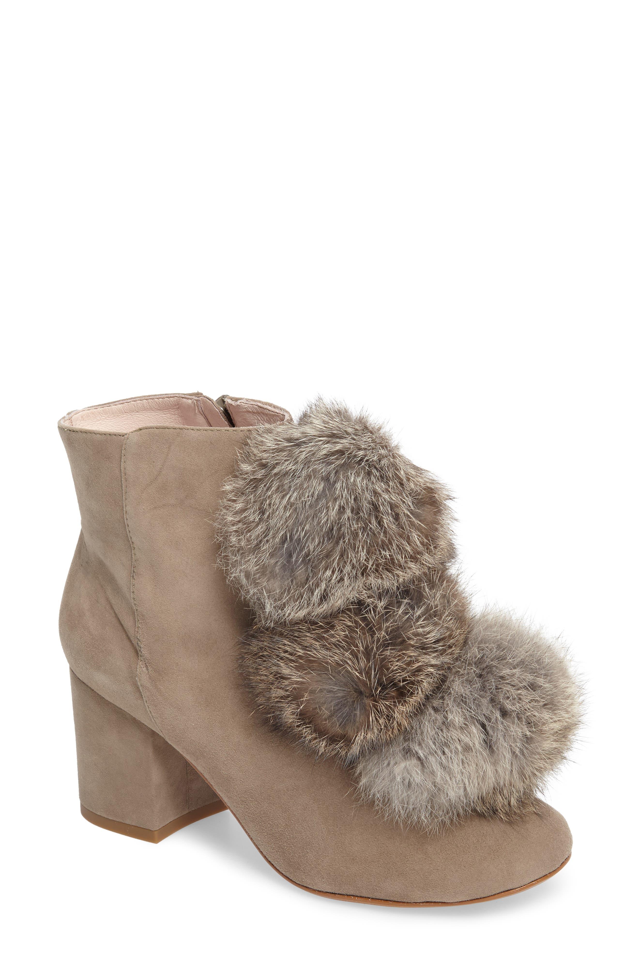 Cecelia New York Minot Genuine Fox Fur Pompom Bootie (Women)