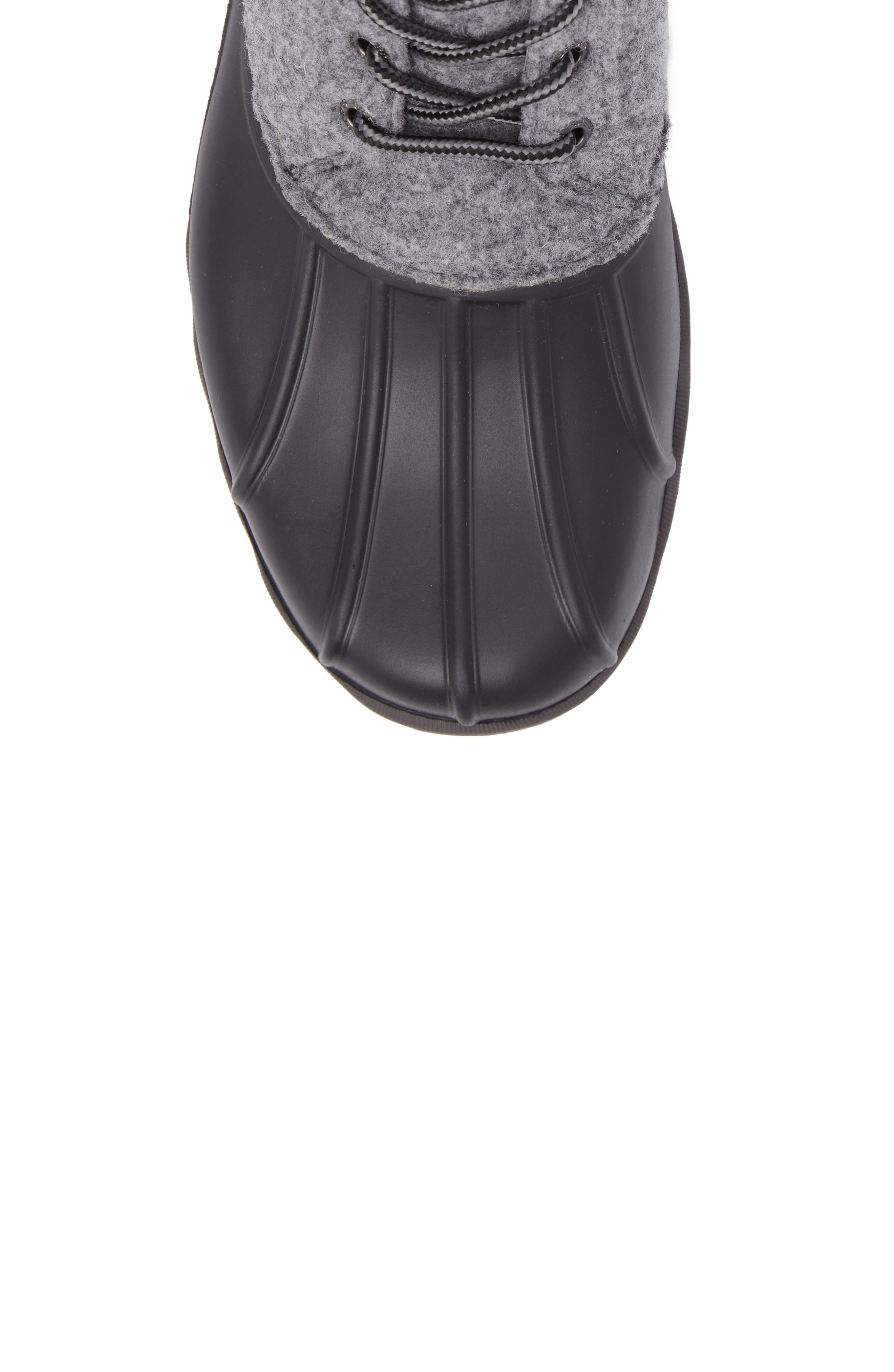 Avenue Rain Boot,                             Alternate thumbnail 5, color,                             Grey Leather