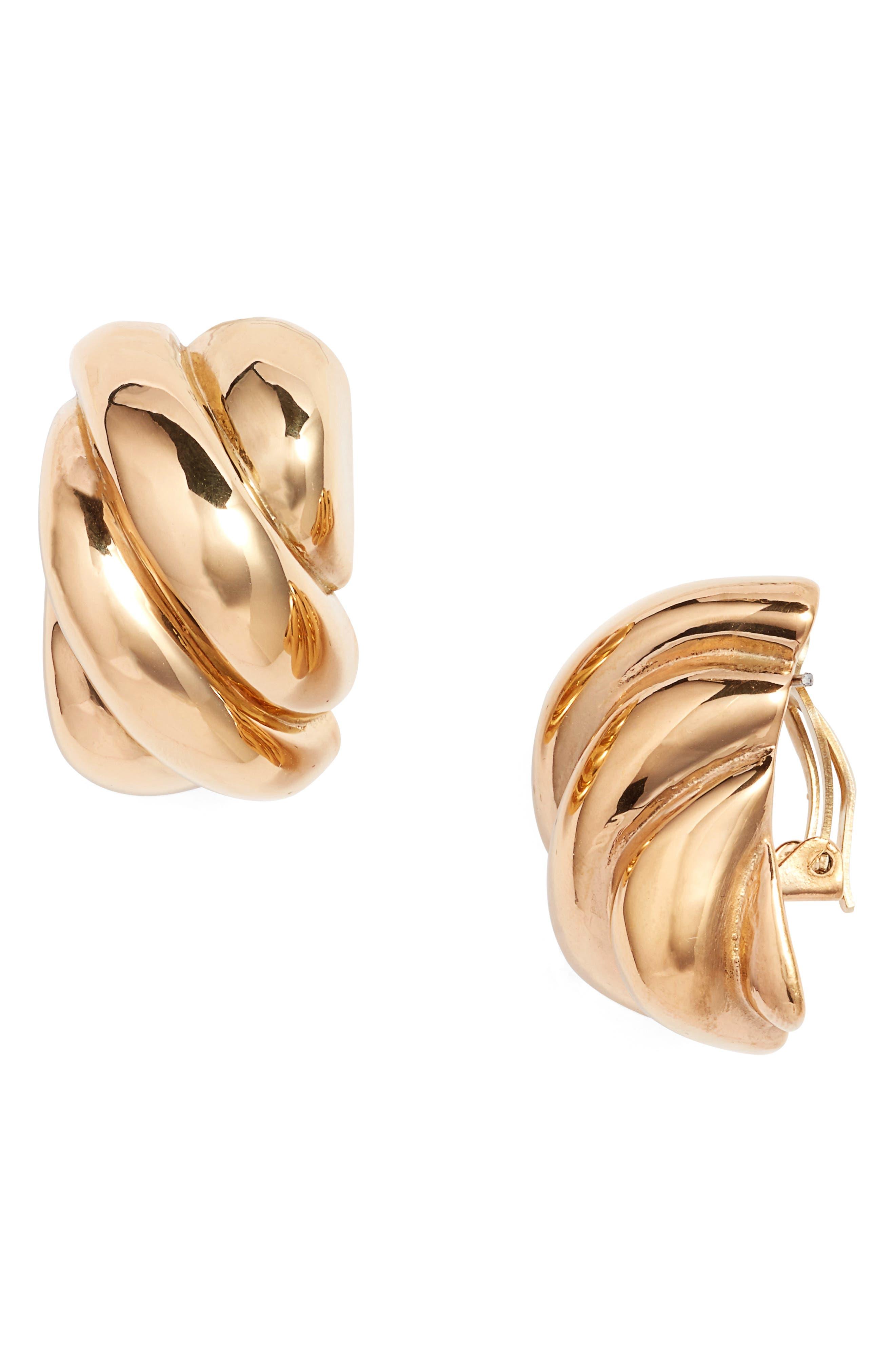 Simon Sebbag Chunky Rectangle Clip Earrings