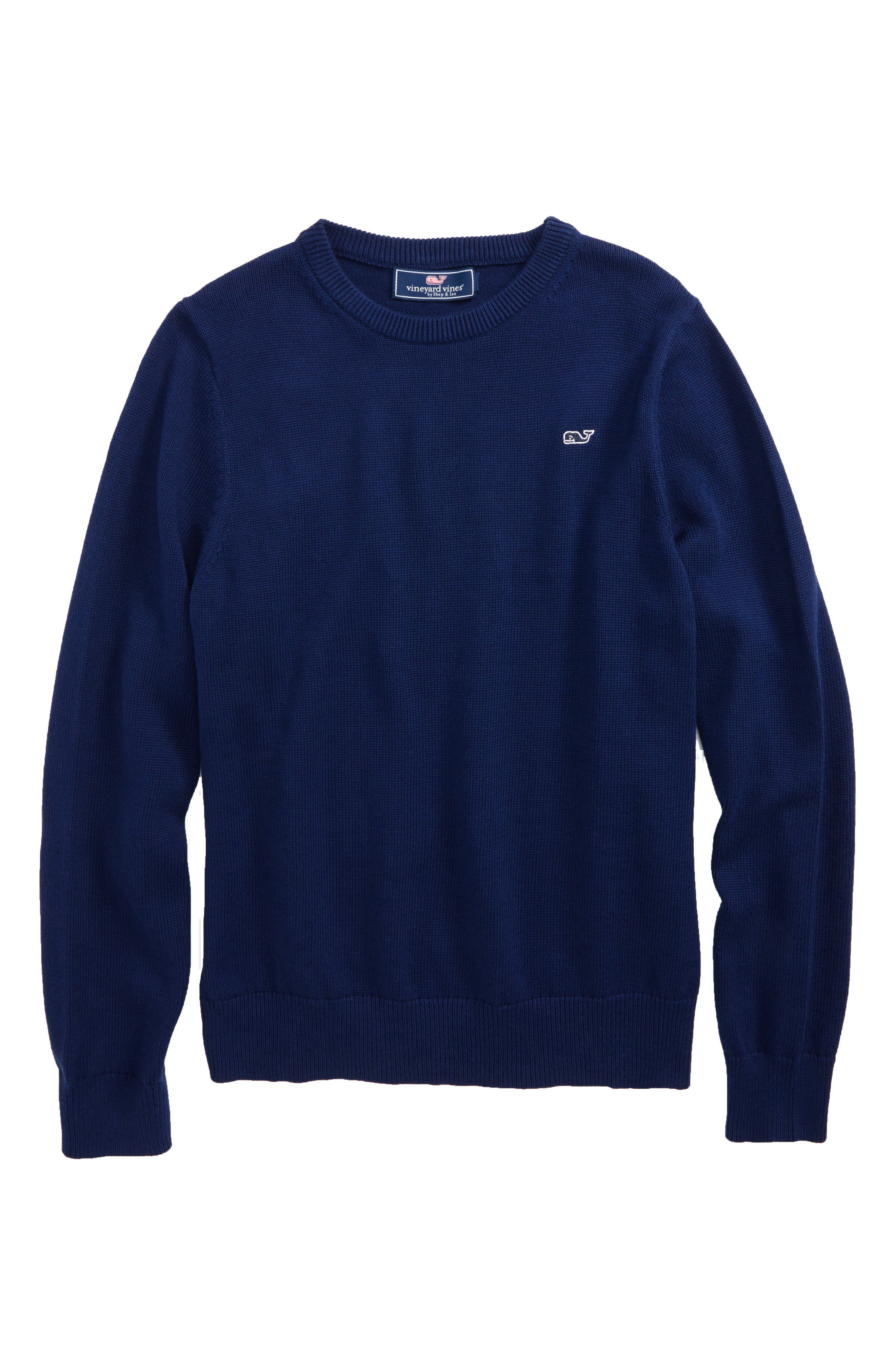 Alternate Image 1 Selected - vineyard vines Classic Crewneck Sweater (Big Boys)