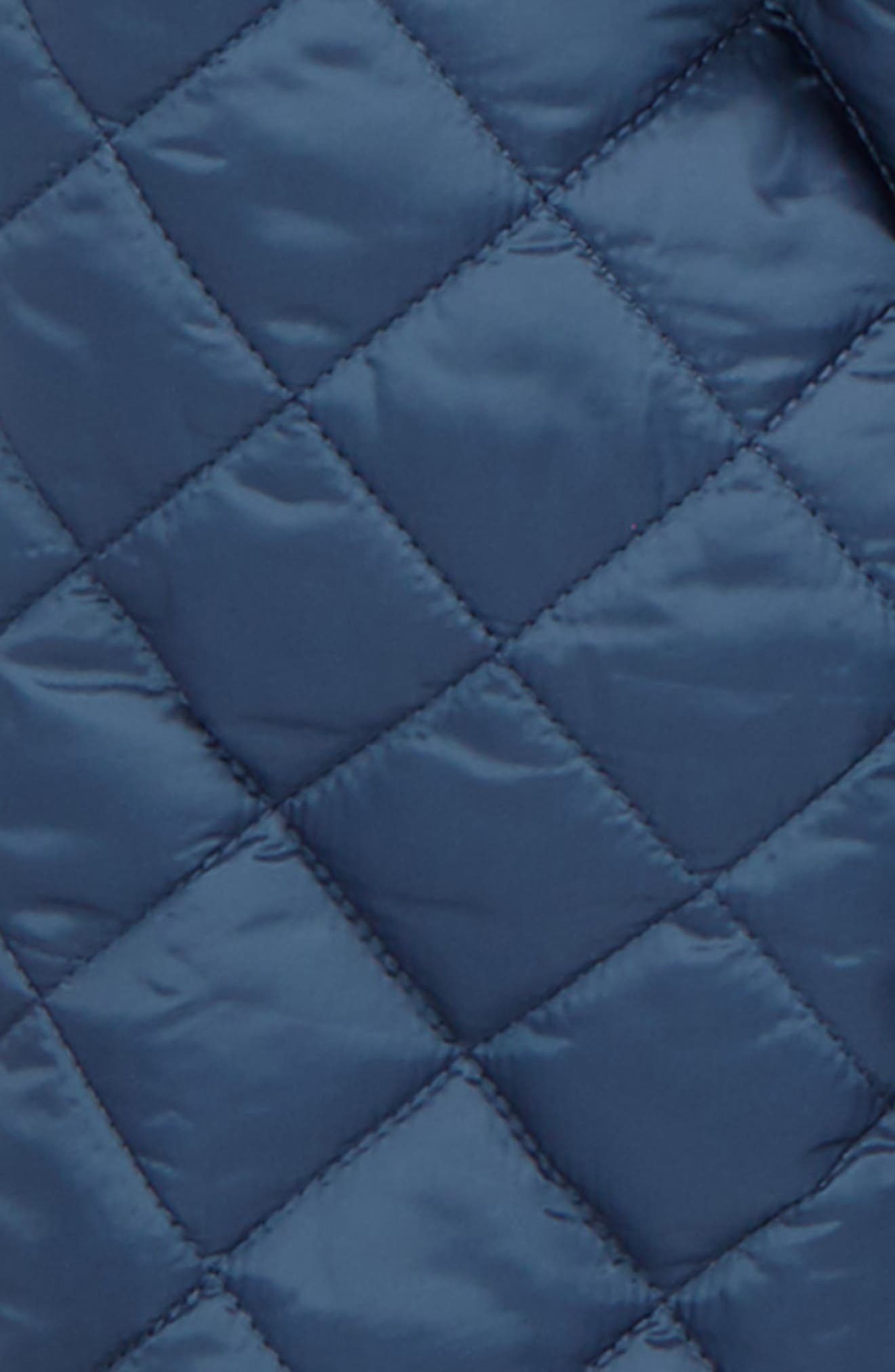 Charlie Quilted Hooded Jacket,                             Alternate thumbnail 2, color,                             Mineral Blue