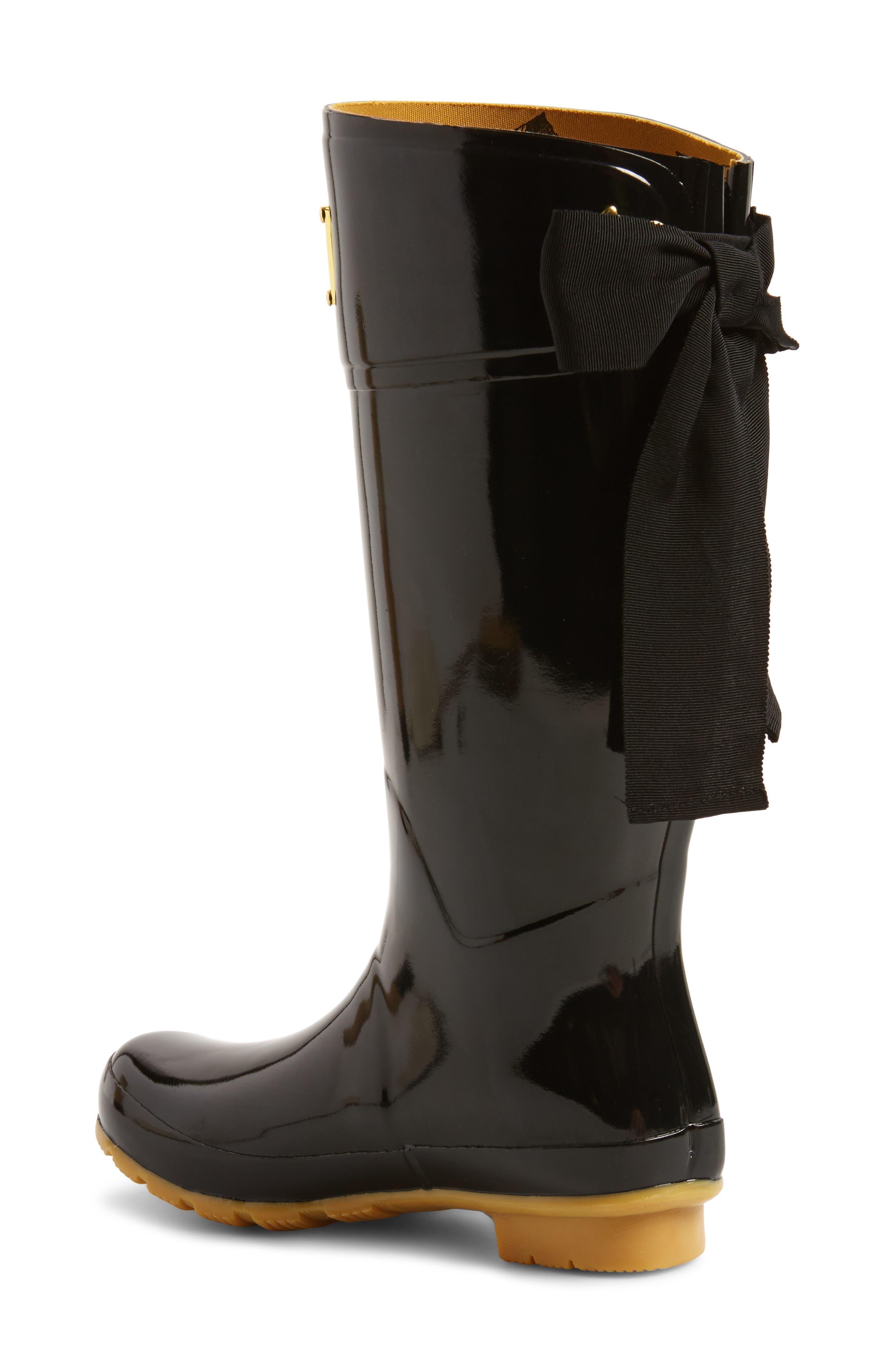 'Evedon' Rain Boot,                             Alternate thumbnail 4, color,                             True Black