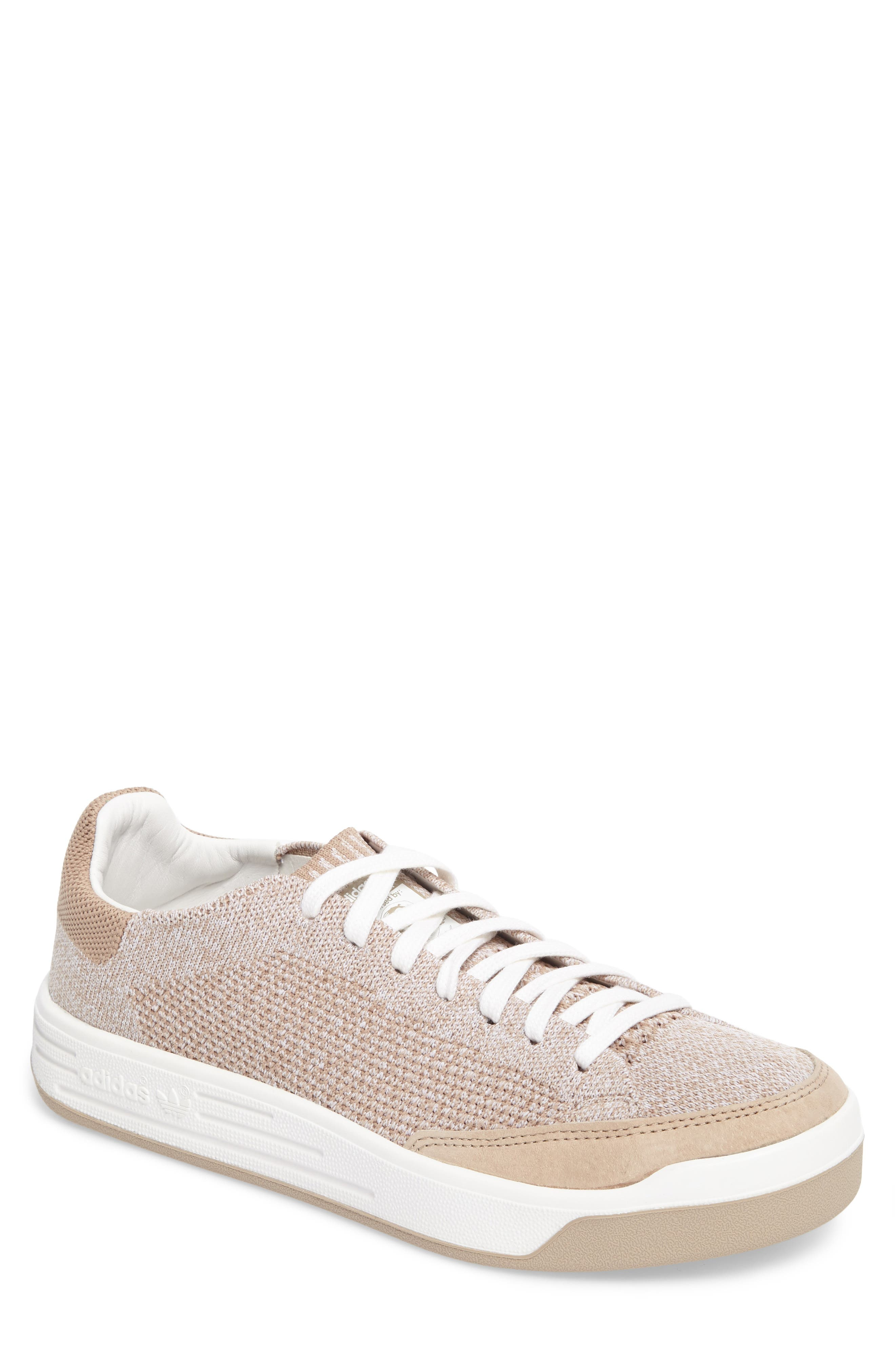 Rod Laver Super Primeknit Sneaker,                             Main thumbnail 1, color,                             Khaki/ White/ Crystal White