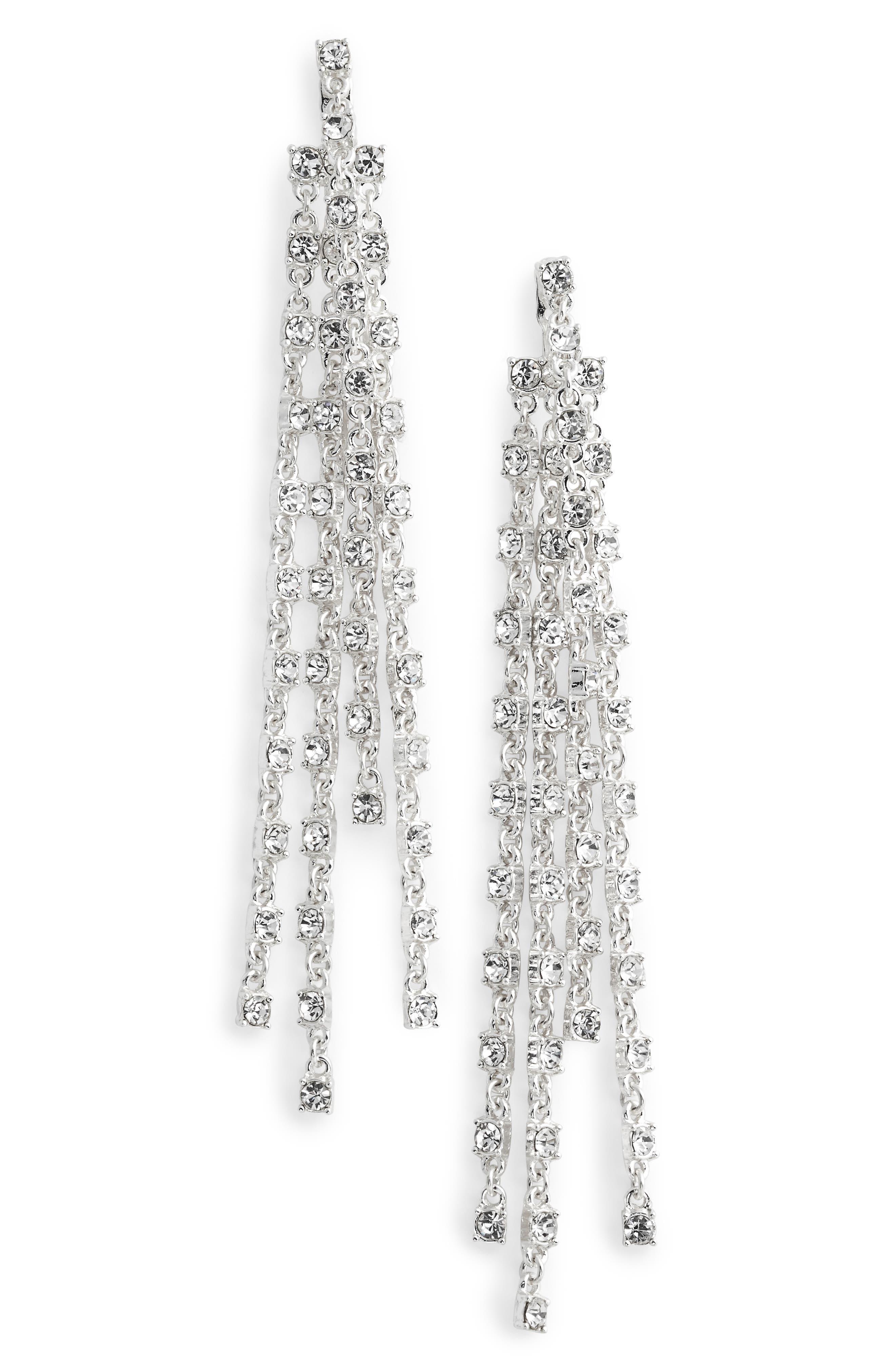 Bella Donna Crystal Drops,                         Main,                         color, Silver