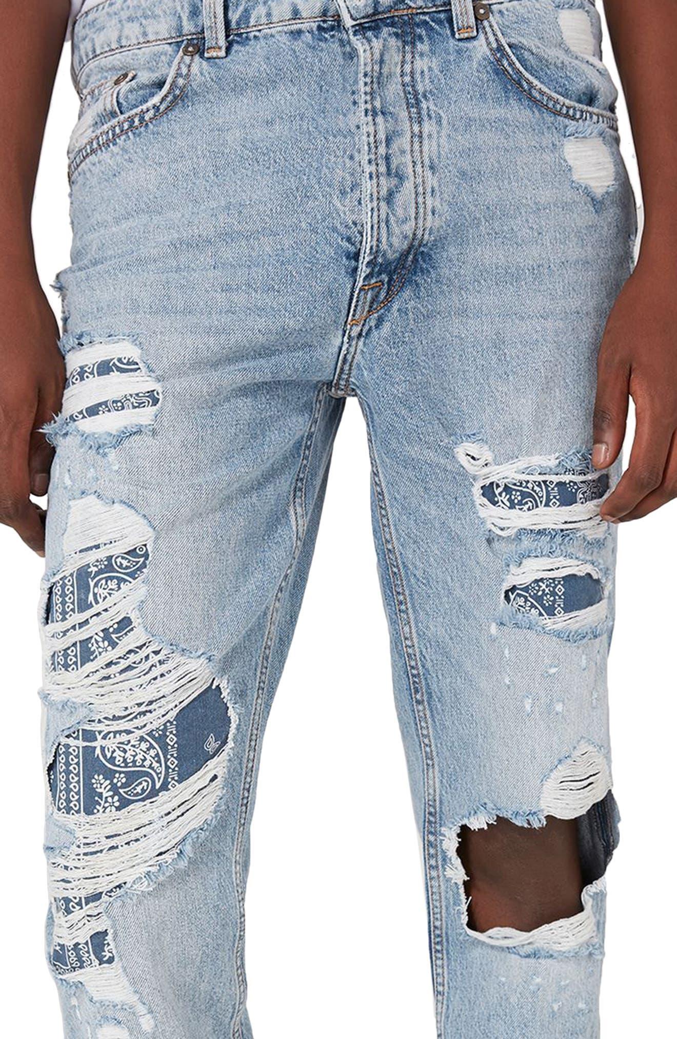 Alternate Image 3  - Topman Patch Standard Fit Jeans