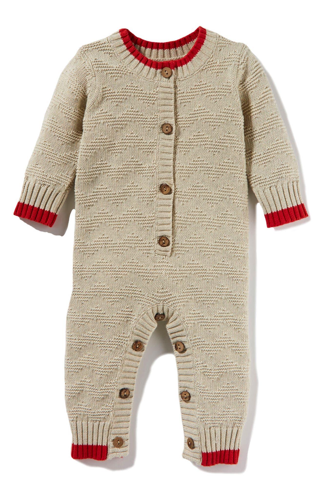 Peek Jones Sweater Romper (Baby Boys)
