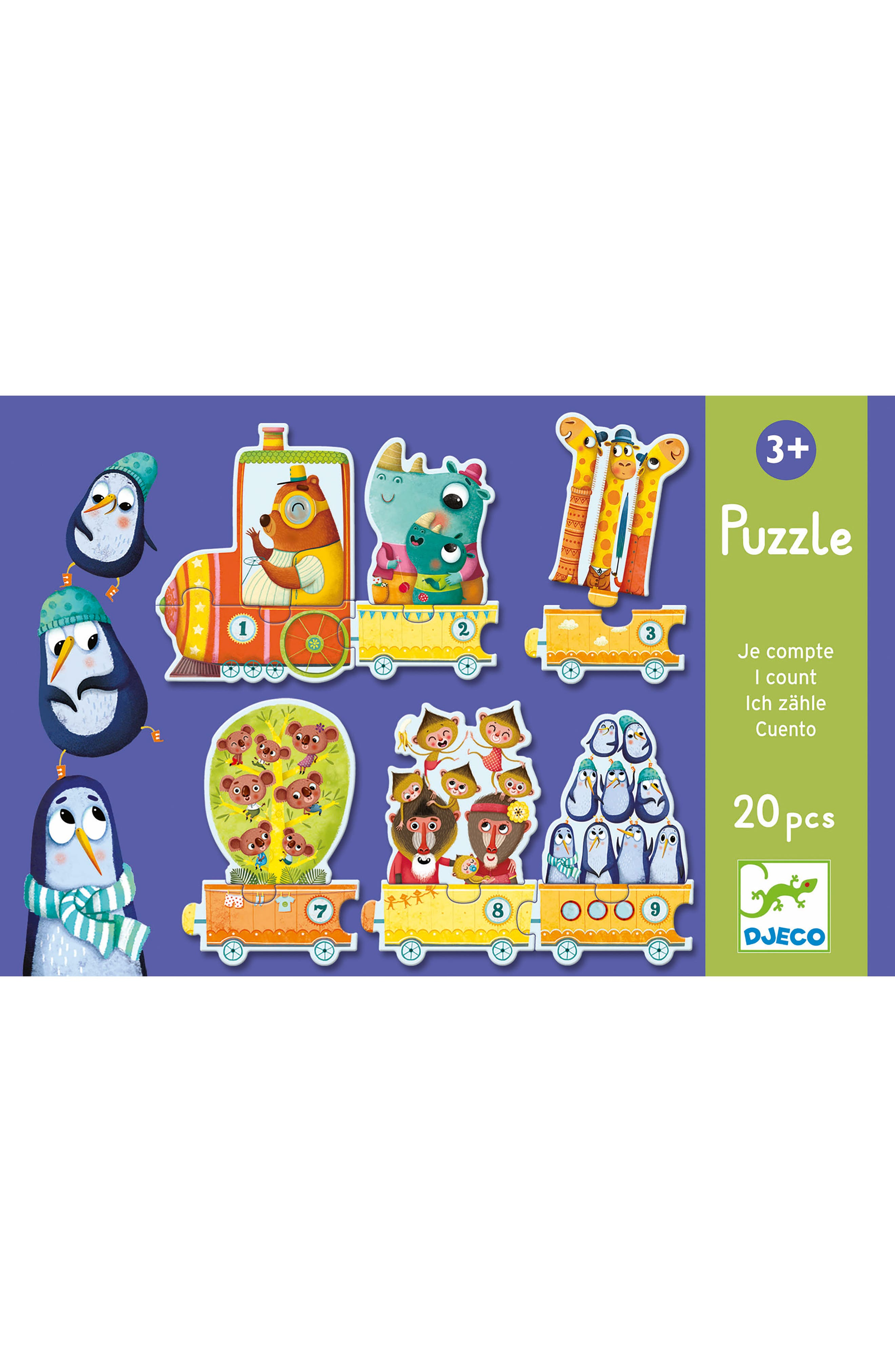 Main Image - Djeco 20-Piece I Count Linking Train Puzzle