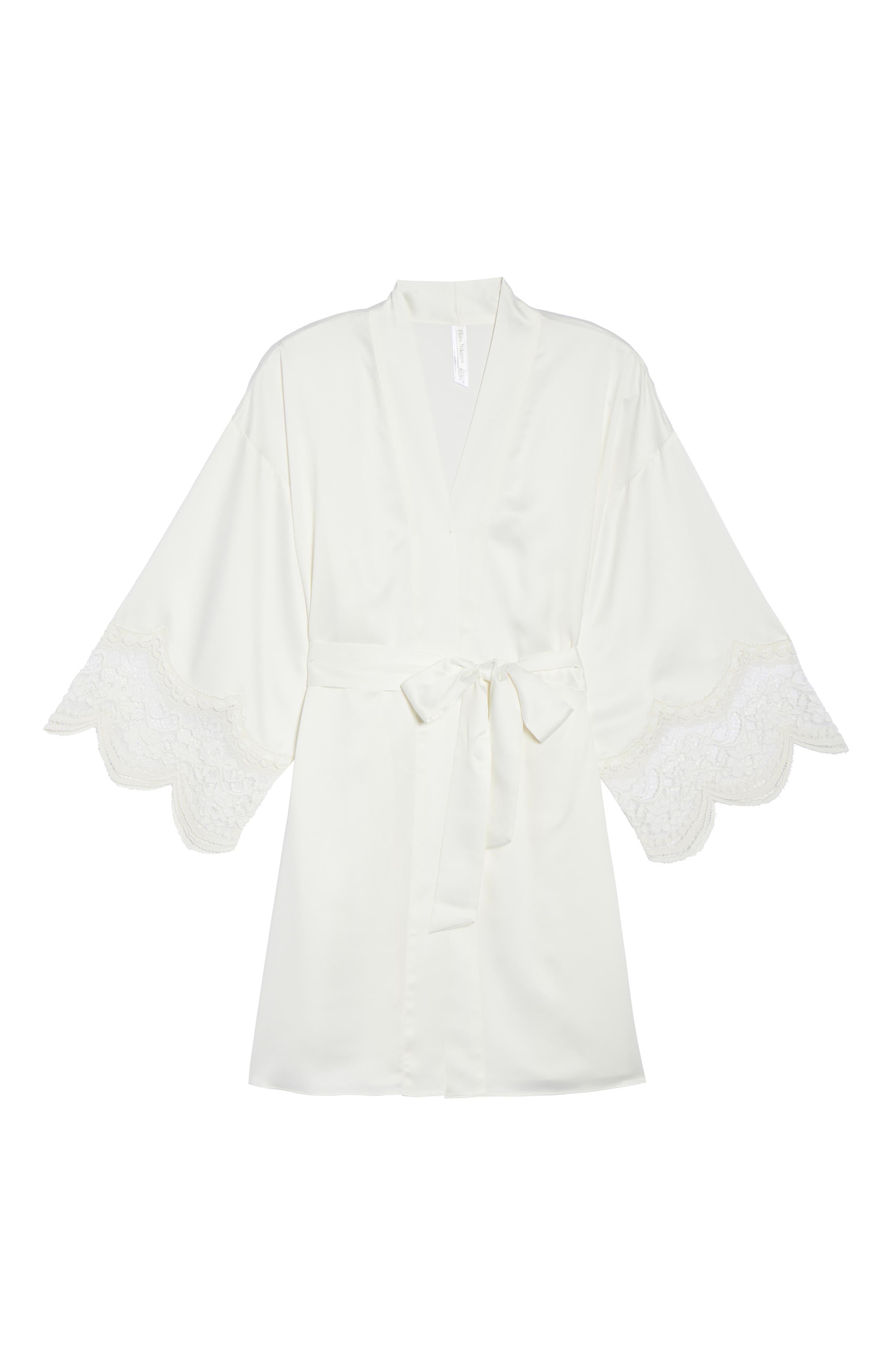 Alternate Image 4  - Flora Nikrooz Monica Satin Kimono Robe
