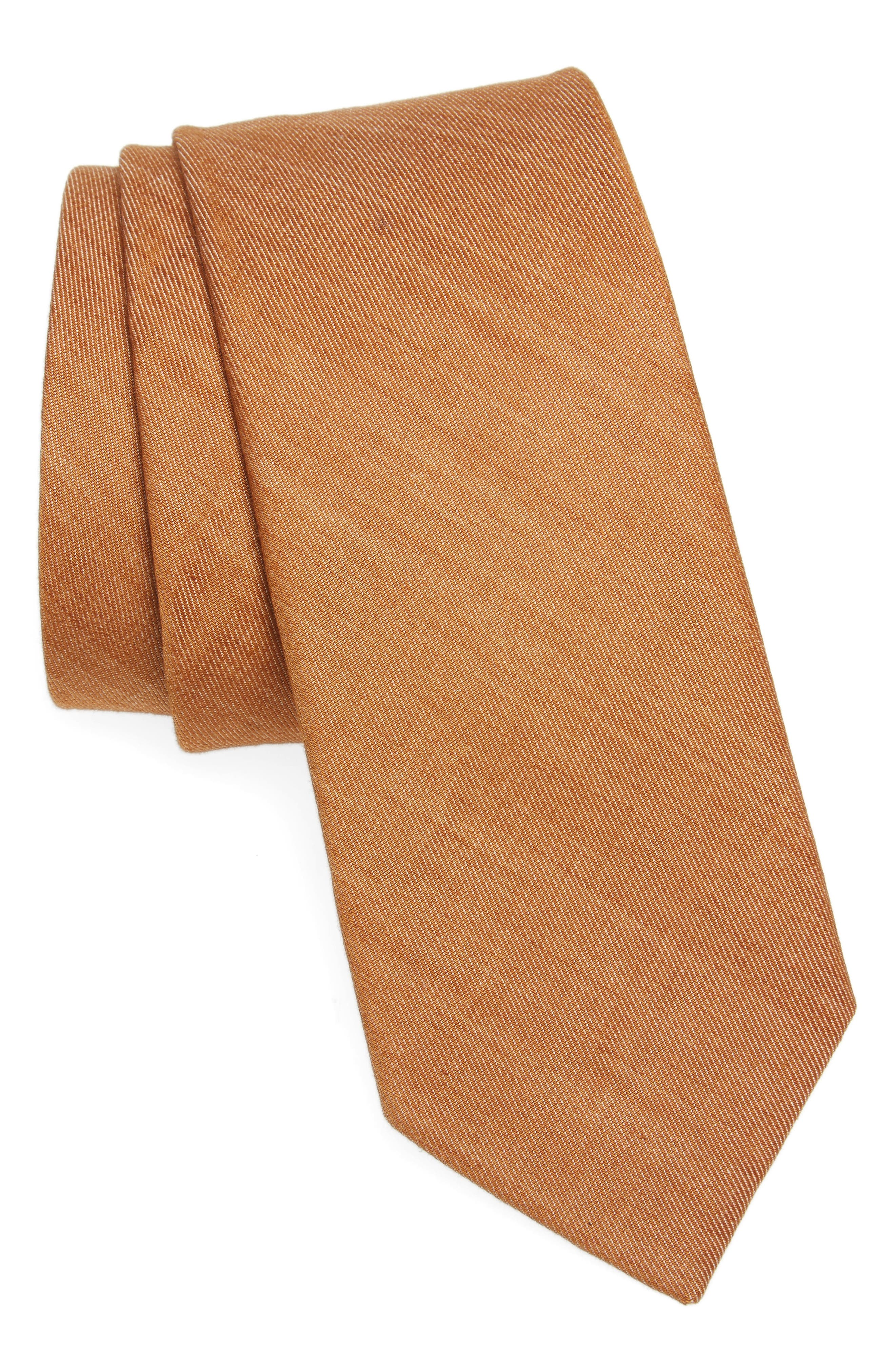 Main Image - 1901 Abbey Solid Cotton Tie