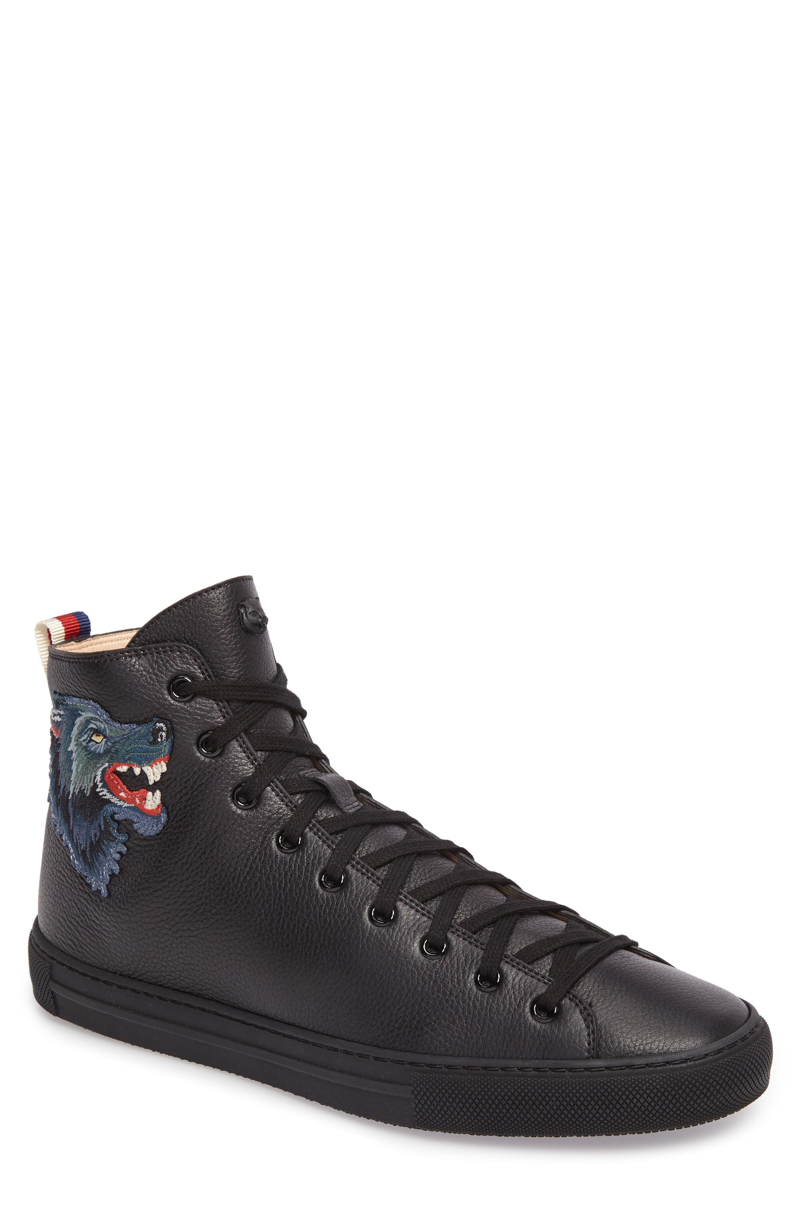 gucci shoes black and white. gucci major angry wolf sneaker (men) shoes black and white