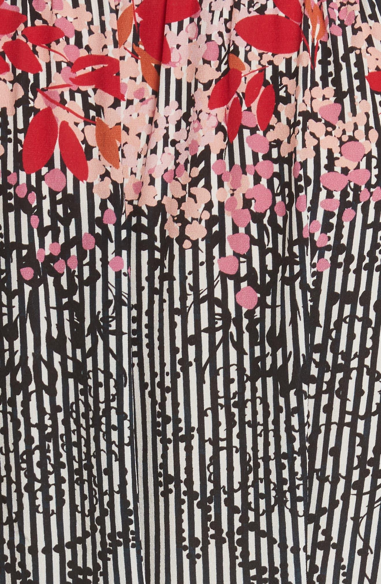 Alternate Image 5  - SALONI Tyra Print Silk Fit & Flare Dress