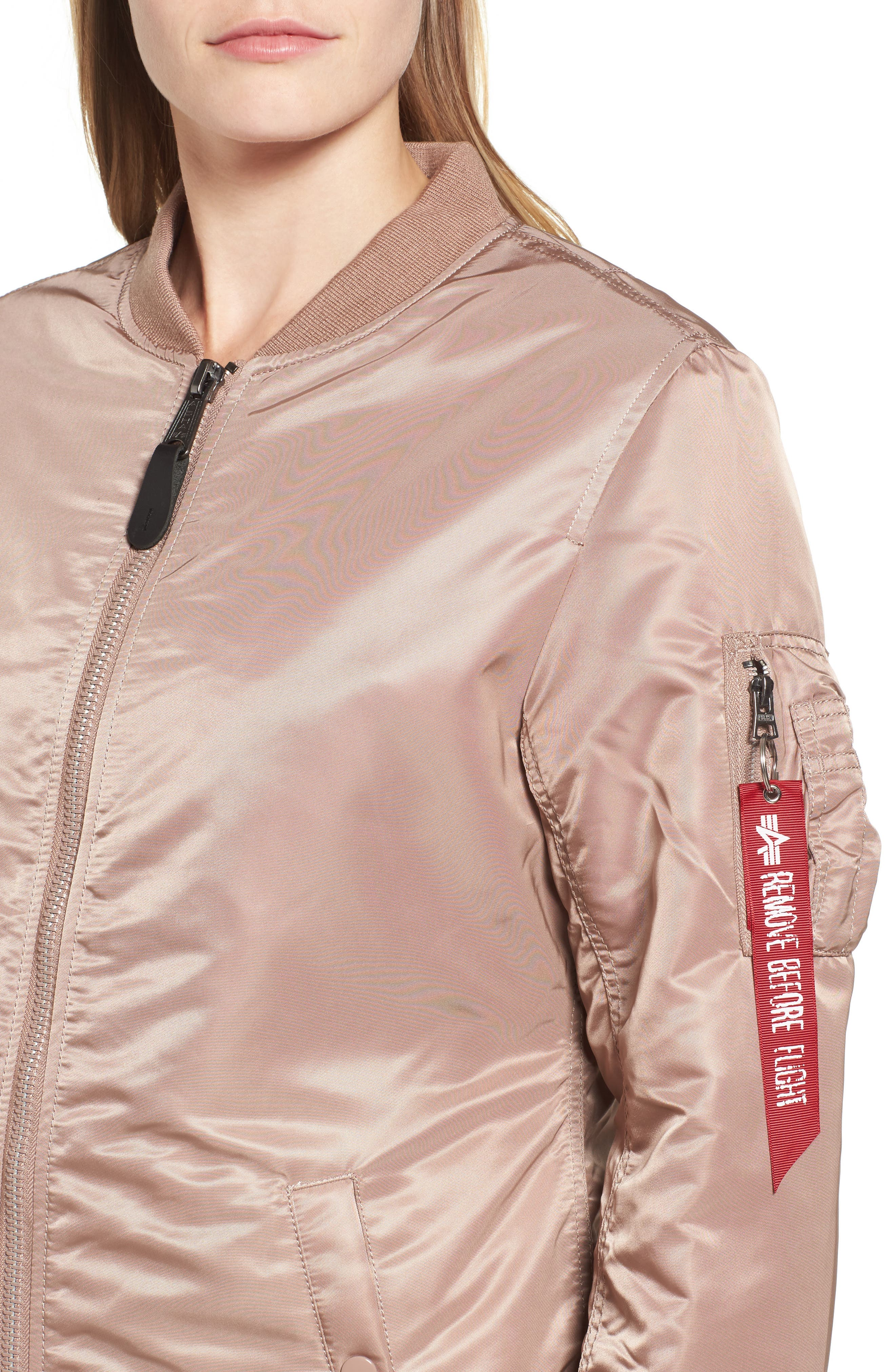 Alternate Image 4  - Alpha Industries Water Resistant Long MA-1 Jacket