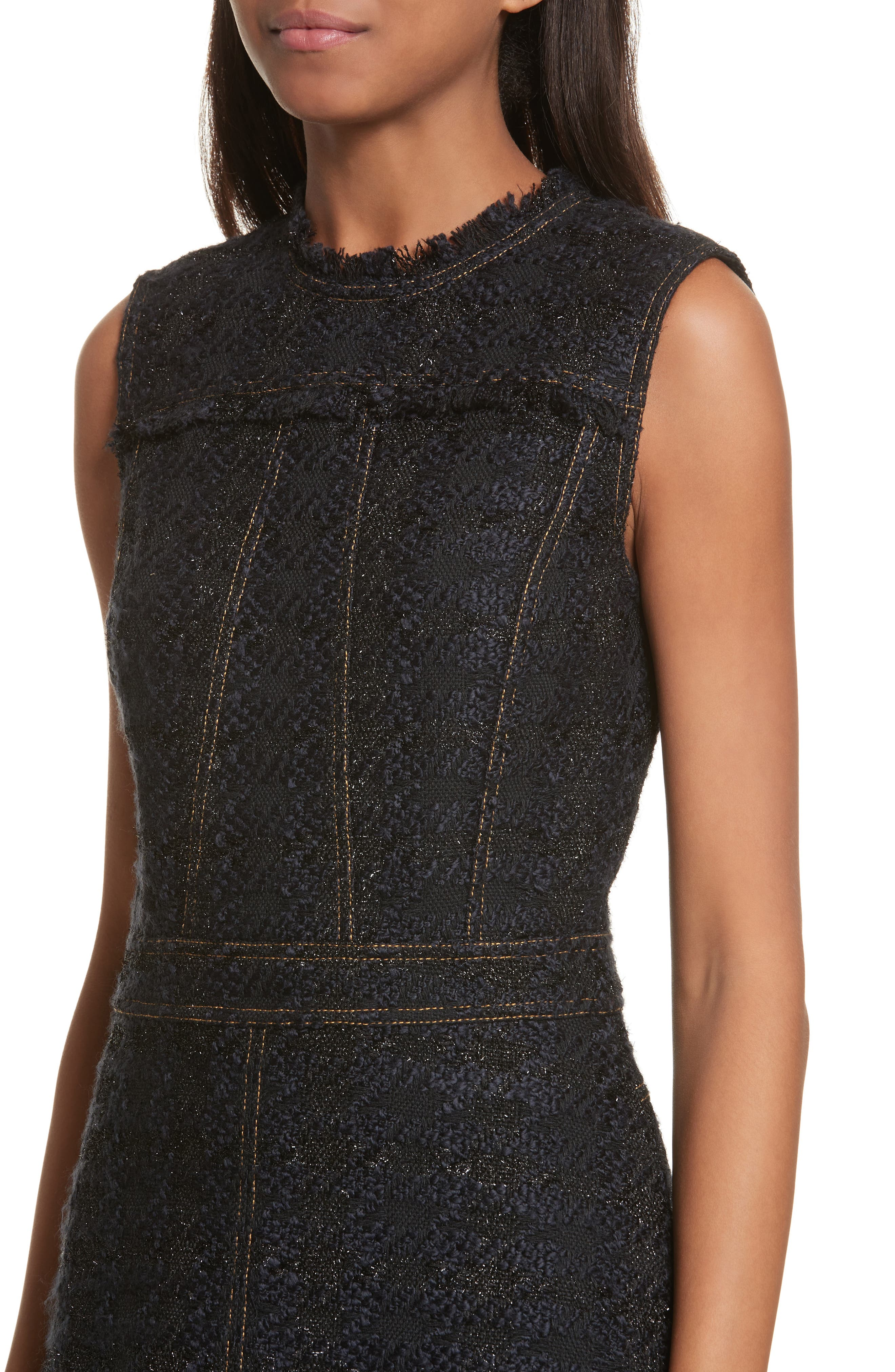 Alternate Image 4  - Tory Burch Aria Tweed Sheath Dress