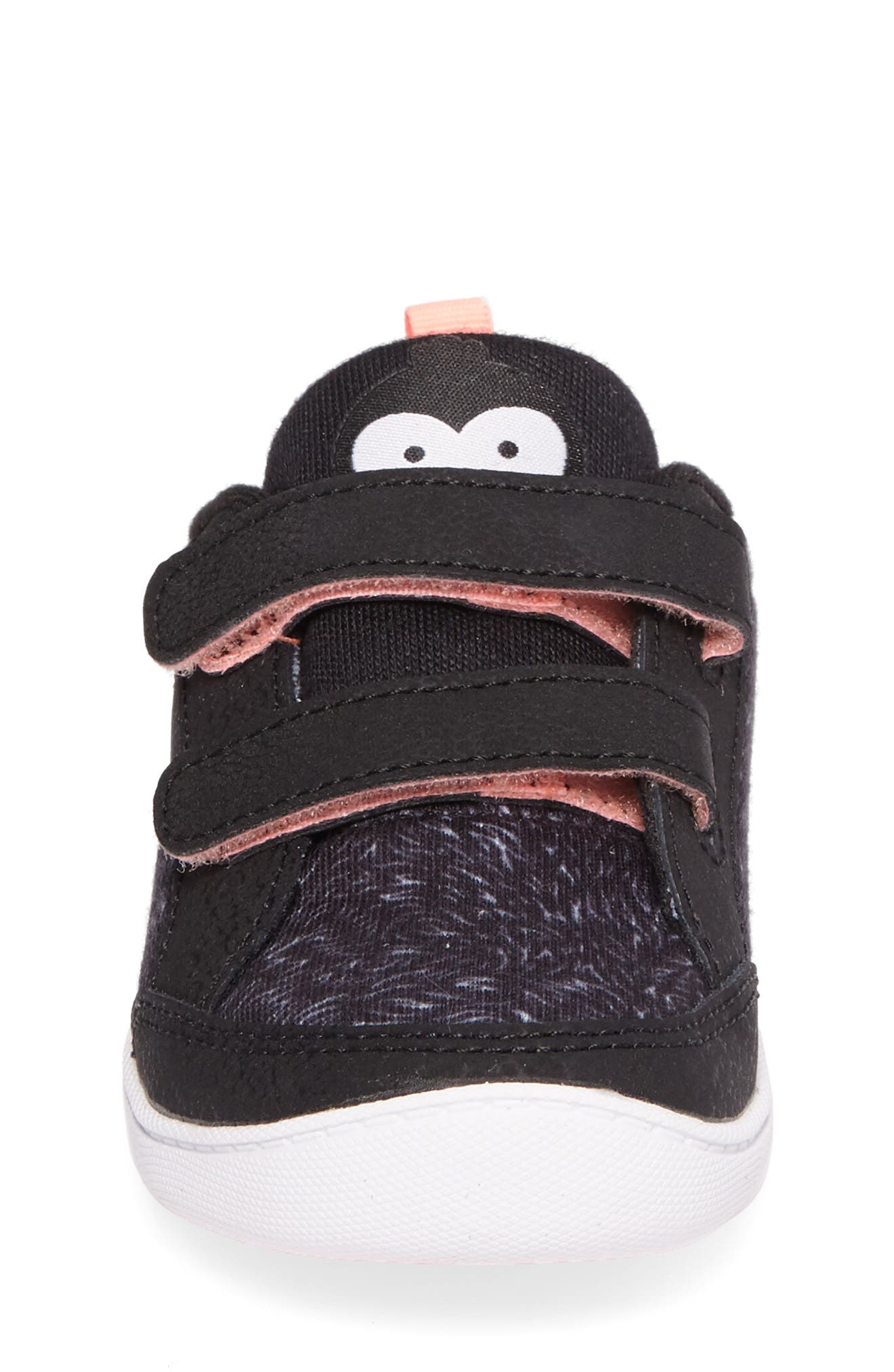 Ventureflex Critter Feet Sneaker,                             Alternate thumbnail 4, color,                             Artic Black/ White/ Sour Melon