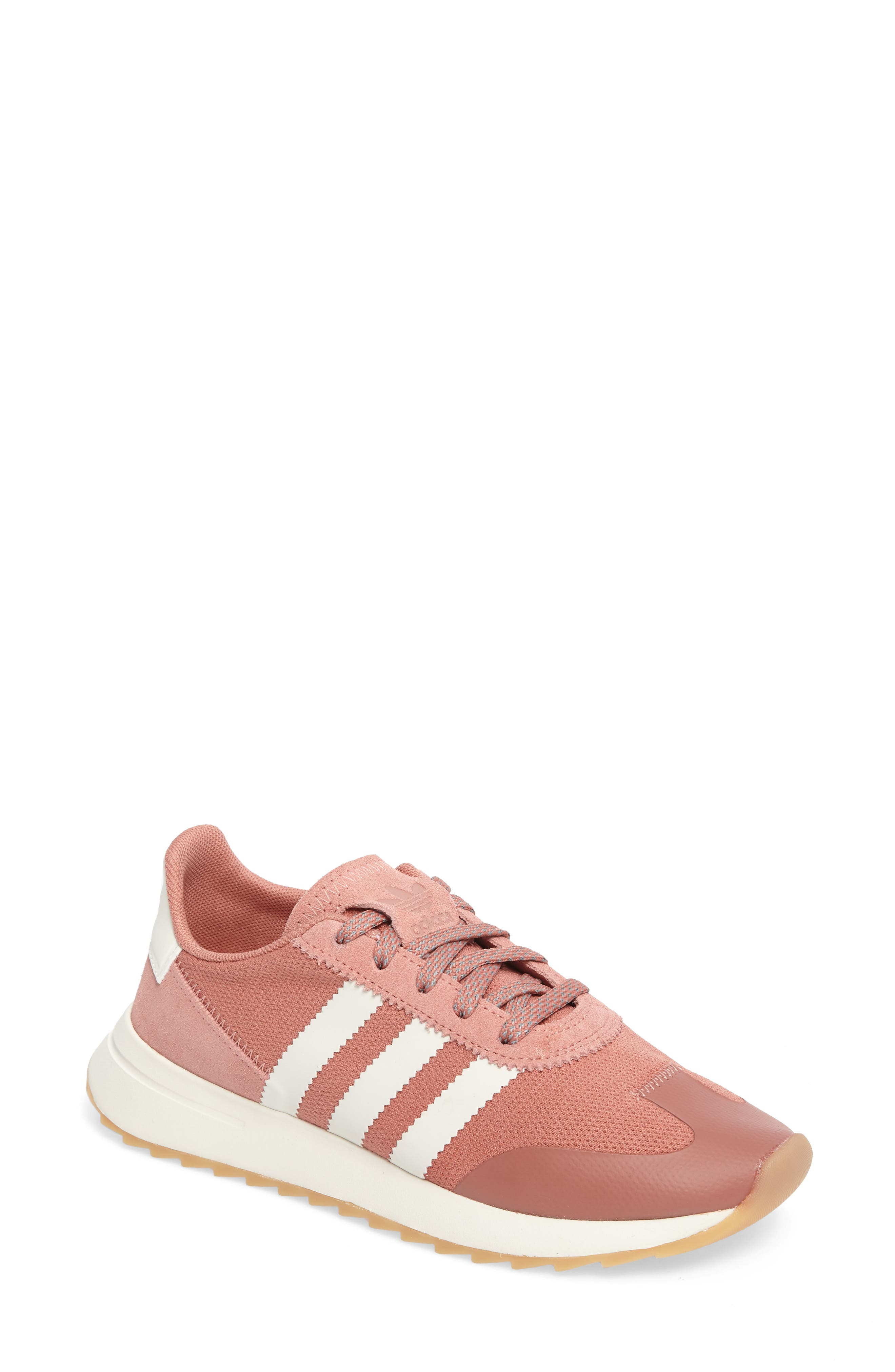 2c7b44136c6f23 Adidas Originals Flashback Sneakers With Leather And Suede In Raw Pink   White