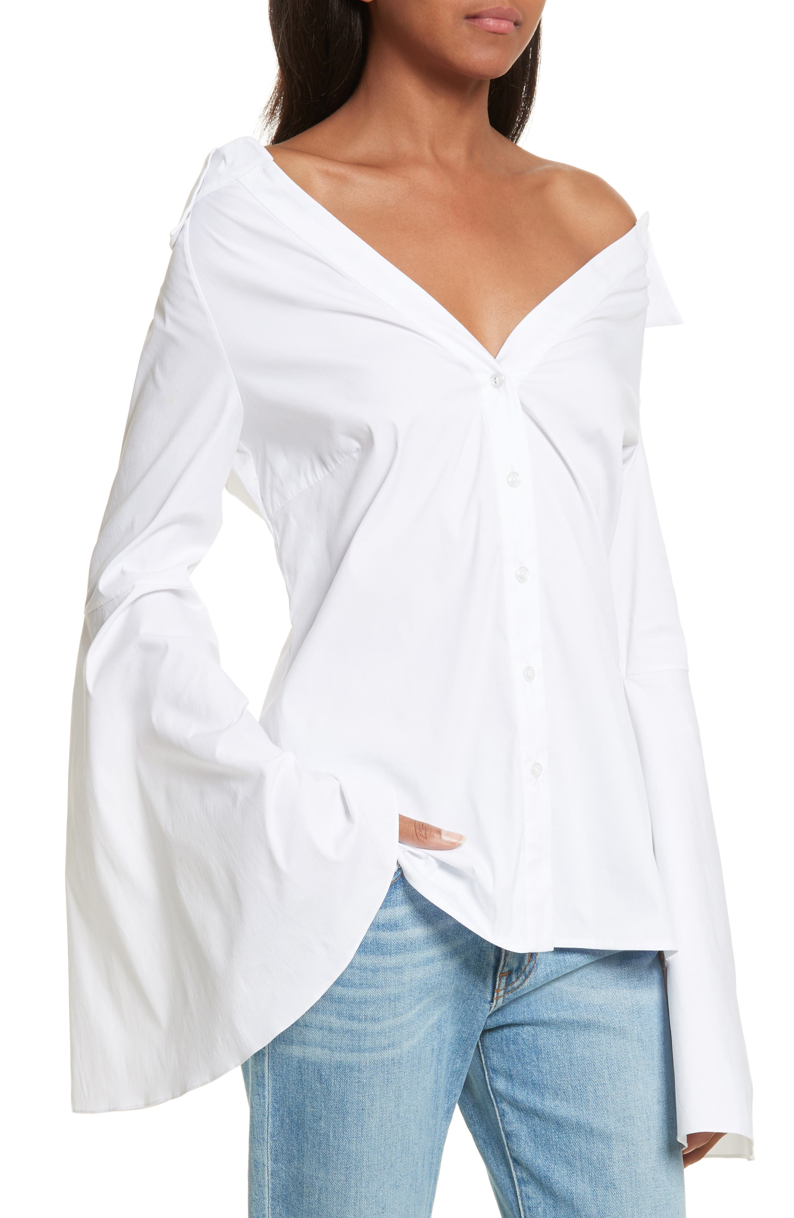 Persephone Off the Shoulder Top,                             Alternate thumbnail 3, color,                             White