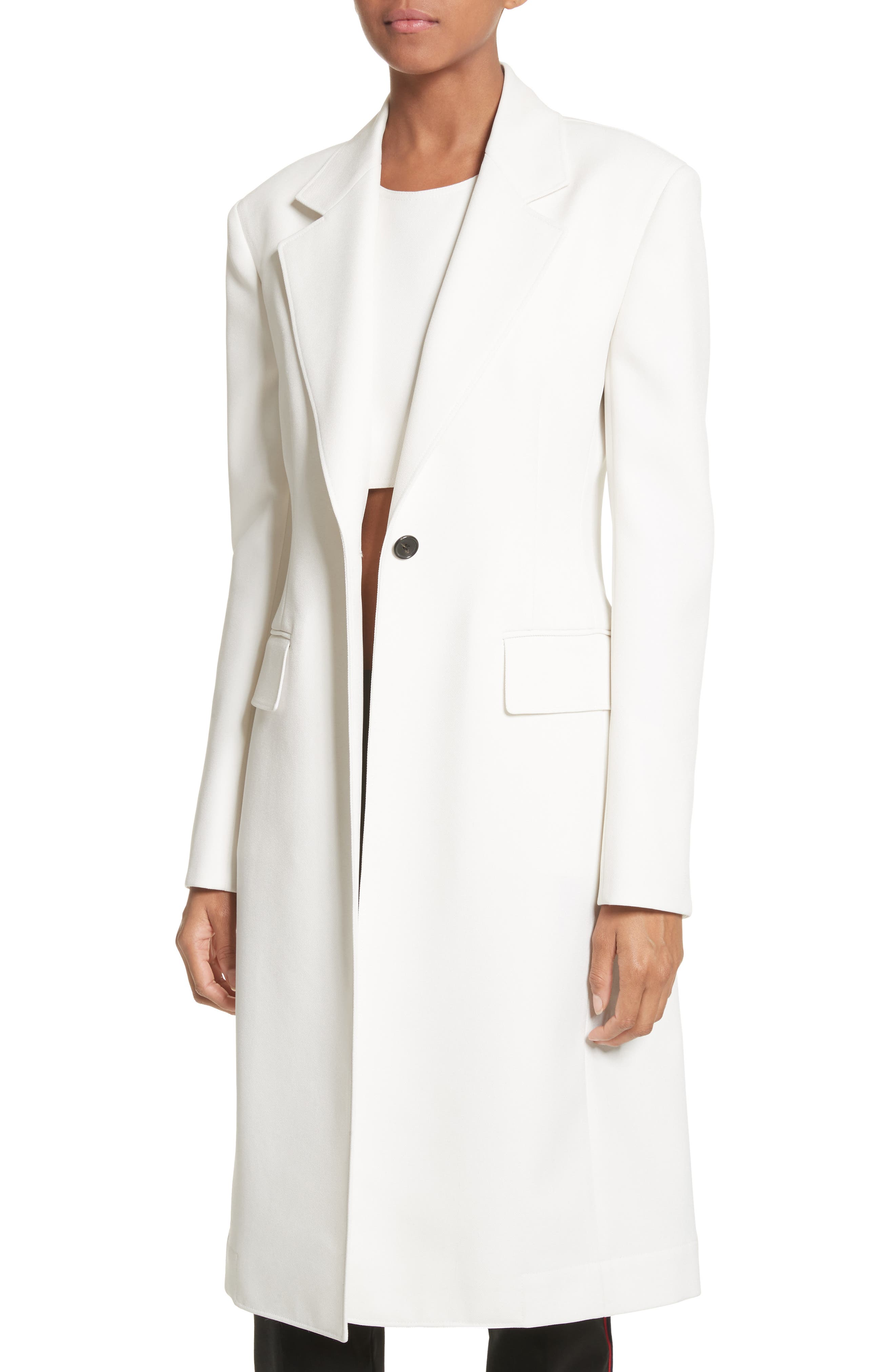Alternate Image 5  - CALVIN KLEIN 205W39NYC Uniform Stripe Coat