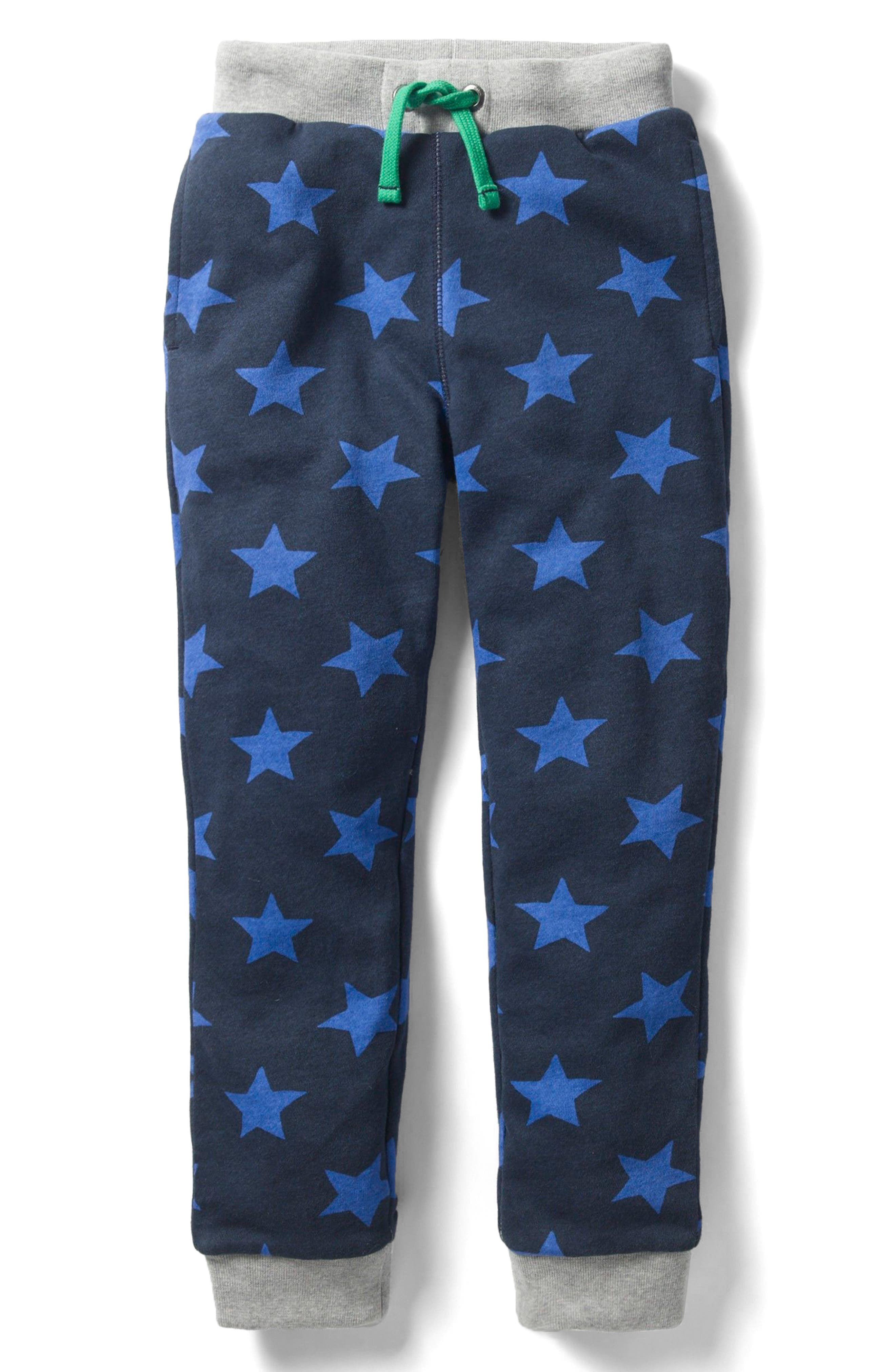 Mini Boden Lined Print Sweatpants (Toddler Boys, Little Boys & Big Boys)