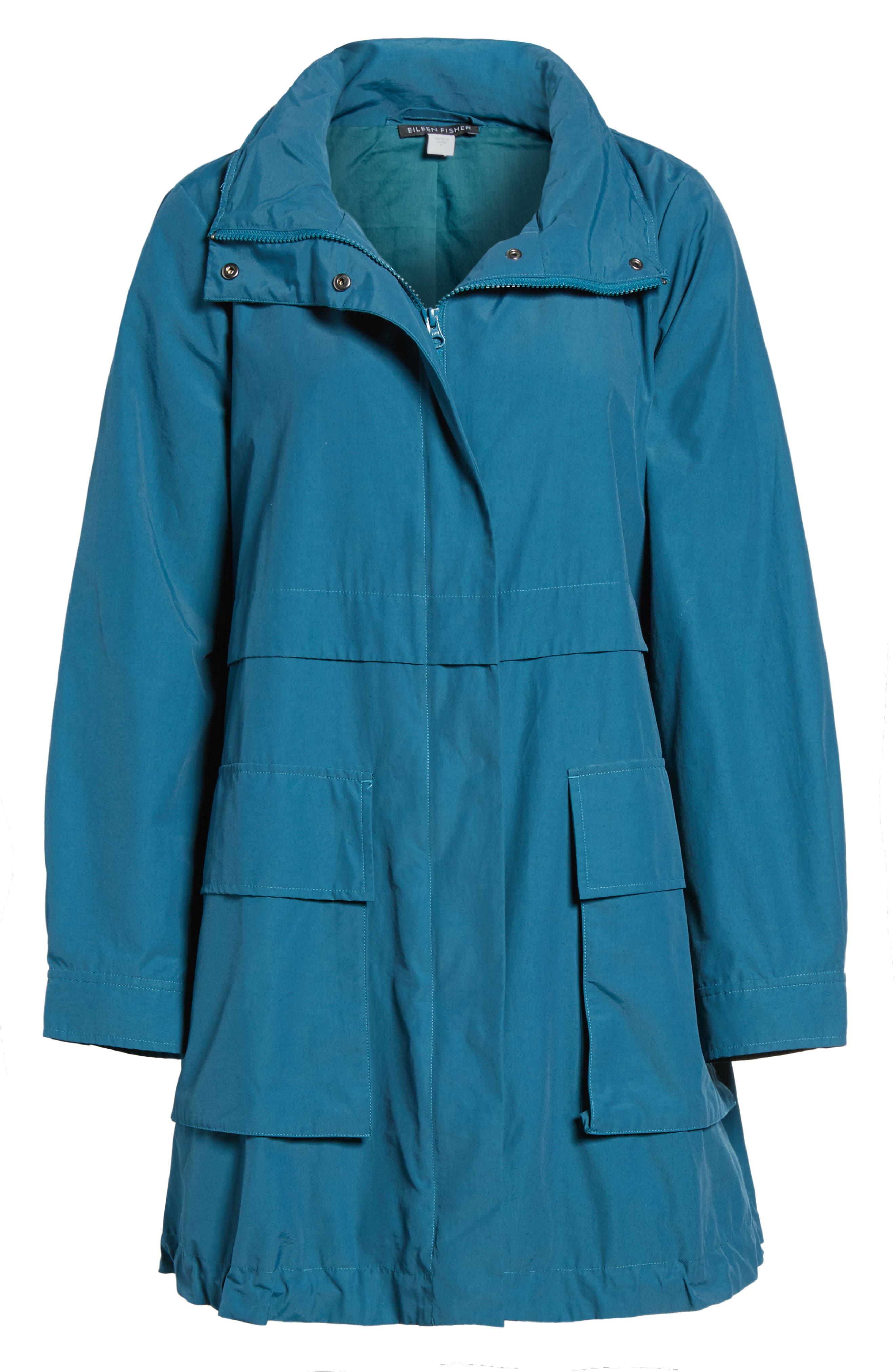 Hooded Utility Jacket,                             Alternate thumbnail 6, color,                             Blue Spruce