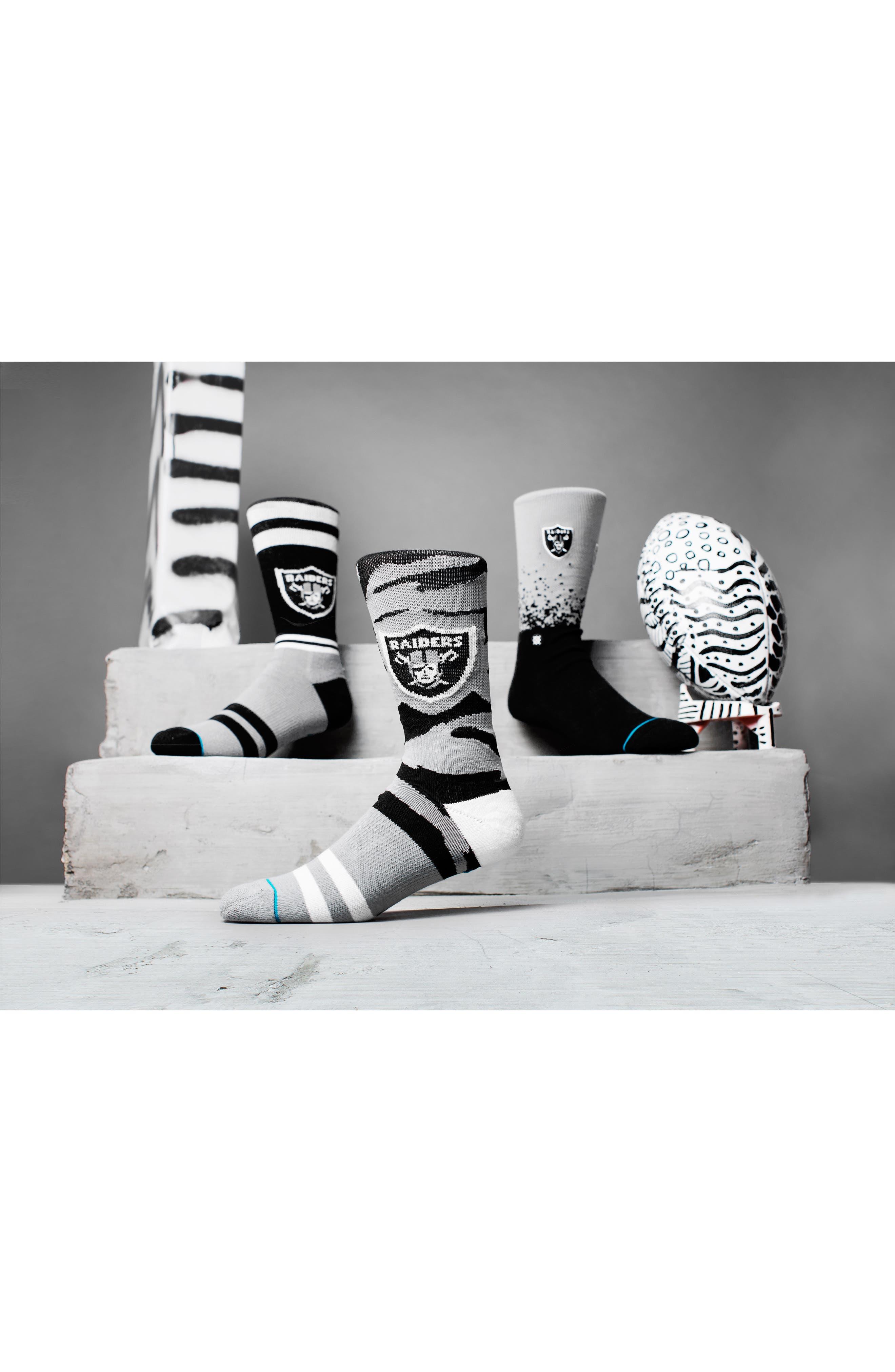 Oakland Raiders - Fade Socks,                             Alternate thumbnail 6, color,                             Black