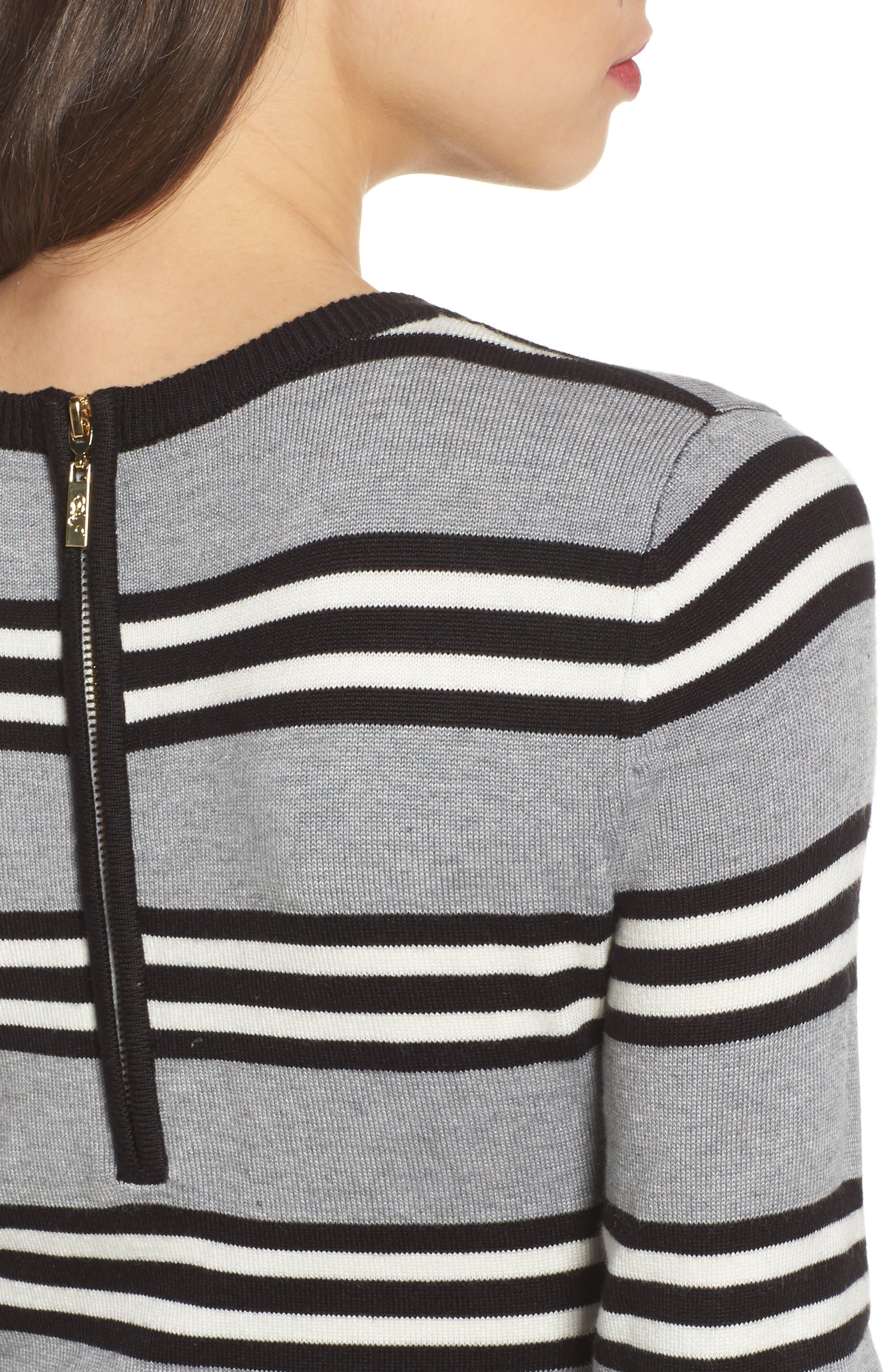 Fit & Flare Sweater Dress,                             Alternate thumbnail 4, color,                             Multi