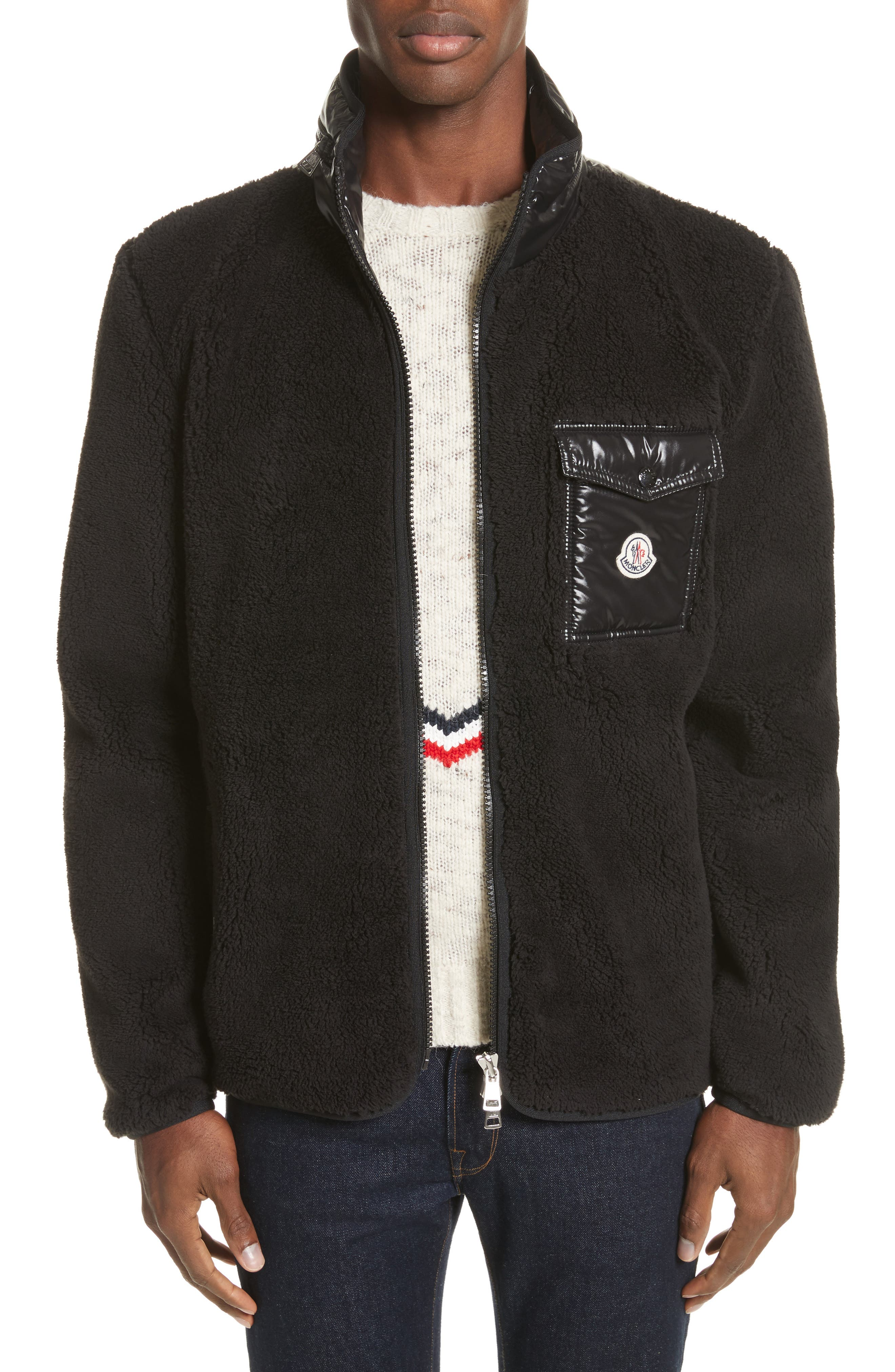 Alternate Image 1 Selected - Moncler Polar Fleece Zip Jacket