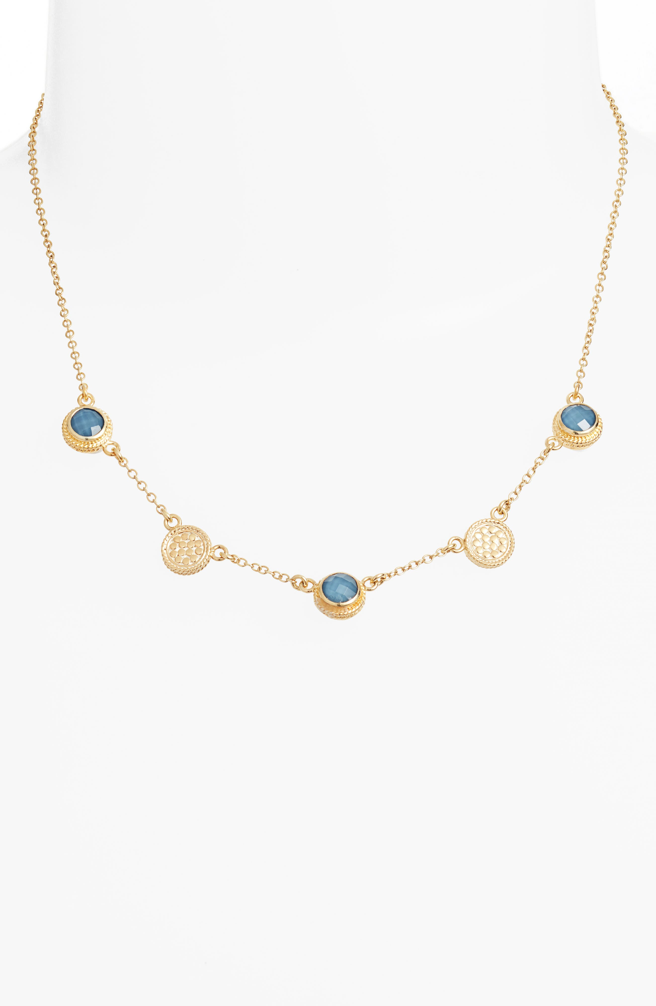 Anna Beck Semiprecious Stone Station Necklace