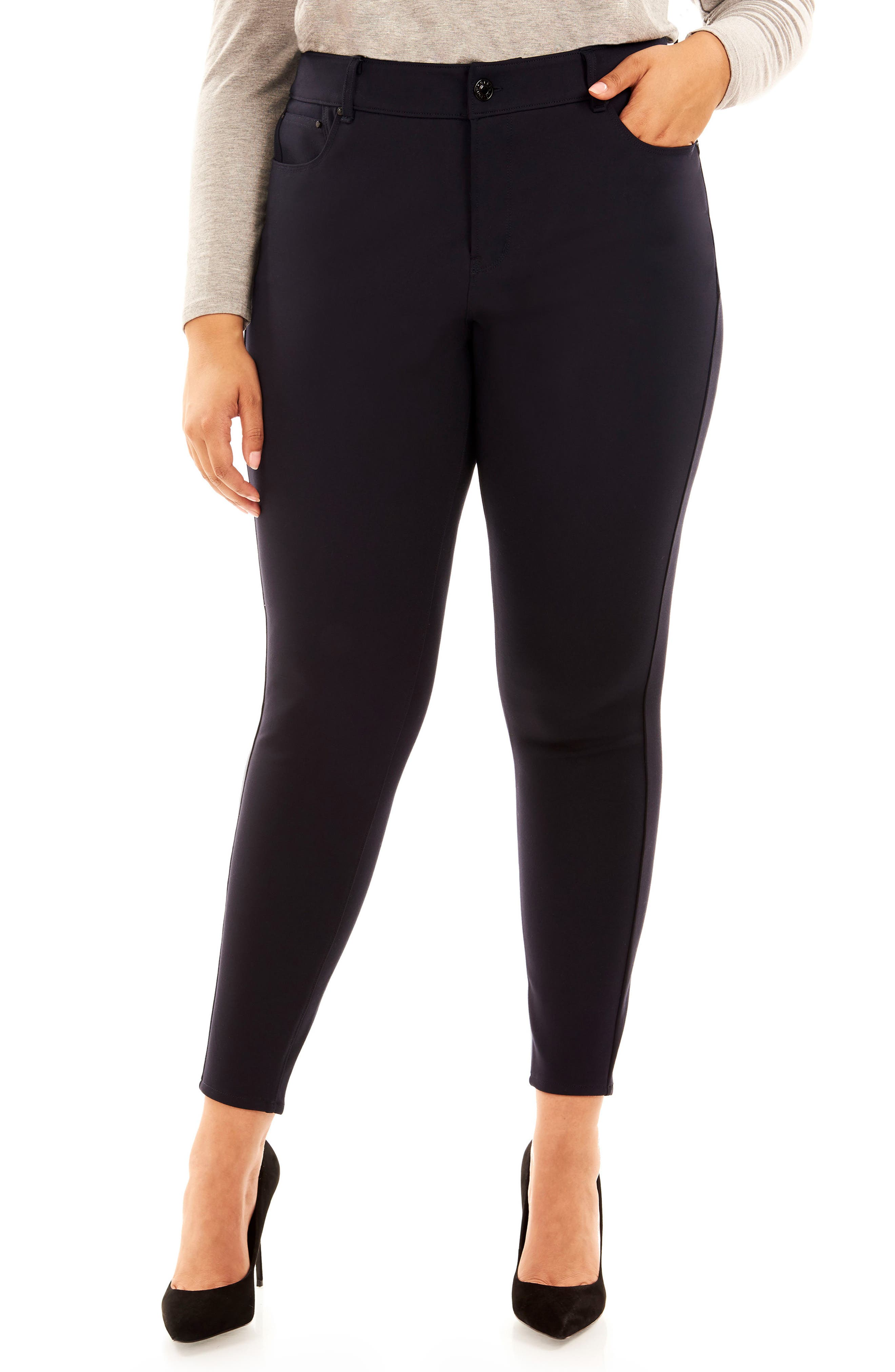 The Super Bass Midrise Ankle Pants,                             Main thumbnail 1, color,                             Navy
