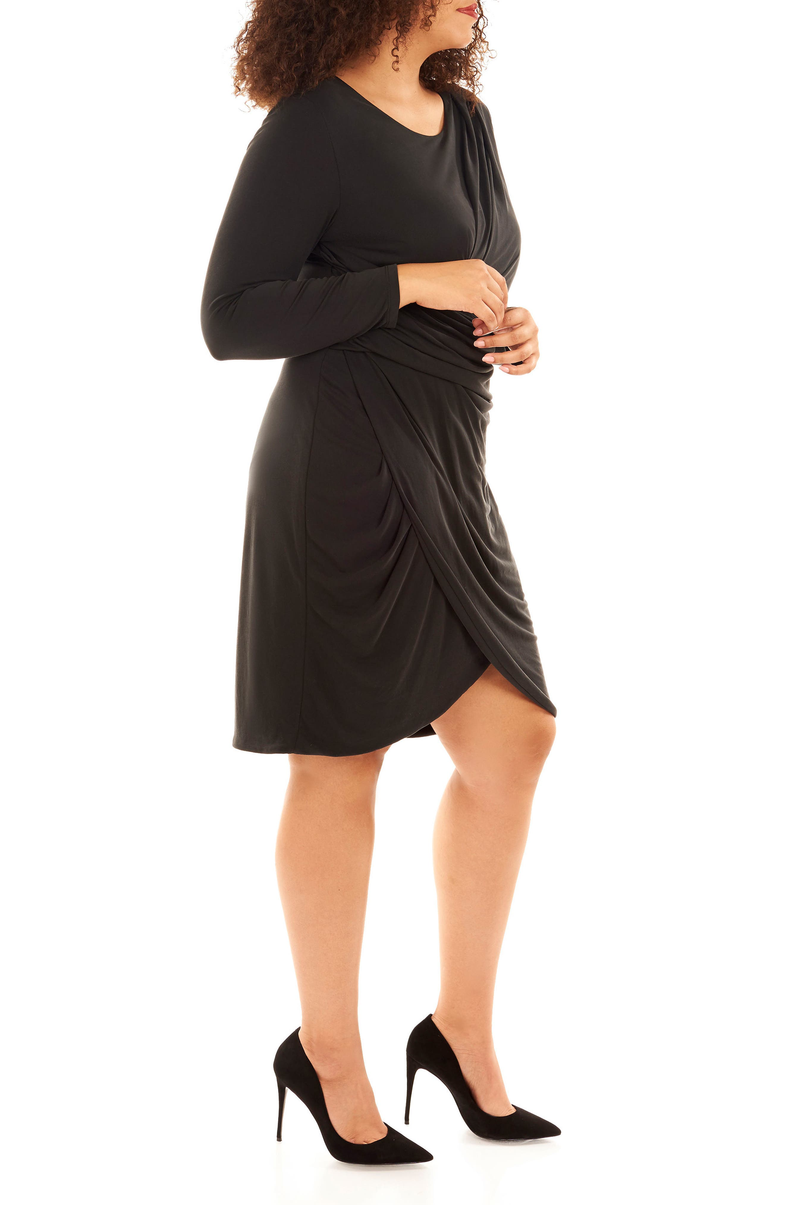 Alternate Image 3  - Rebel Wilson x Angels Pleated Faux Wrap Dress (Plus Size)