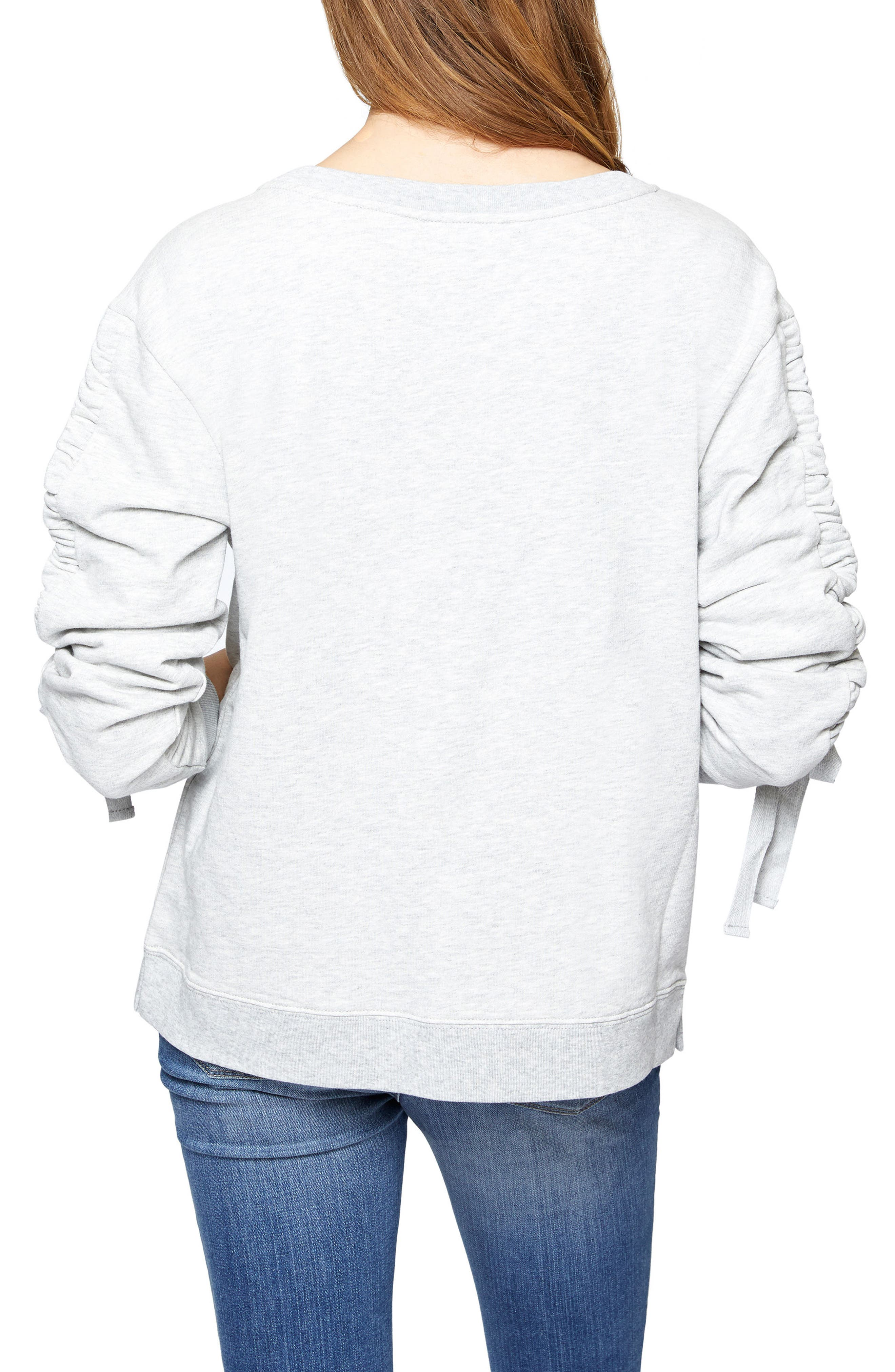 Alternate Image 2  - Sanctuary Camden Ruched Sweatshirt (Regular & Petite)