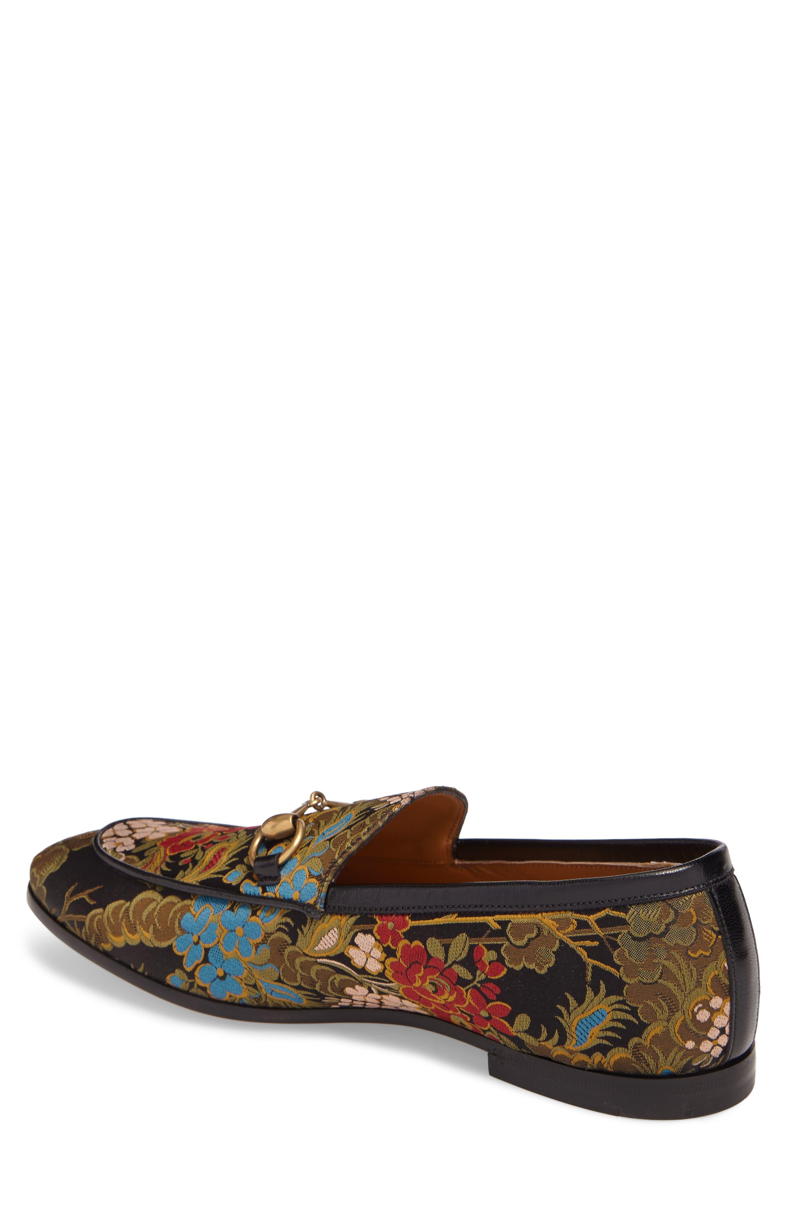 Alternate Image 2  - Gucci Jordaan Jacquard Bit Loafer (Men)