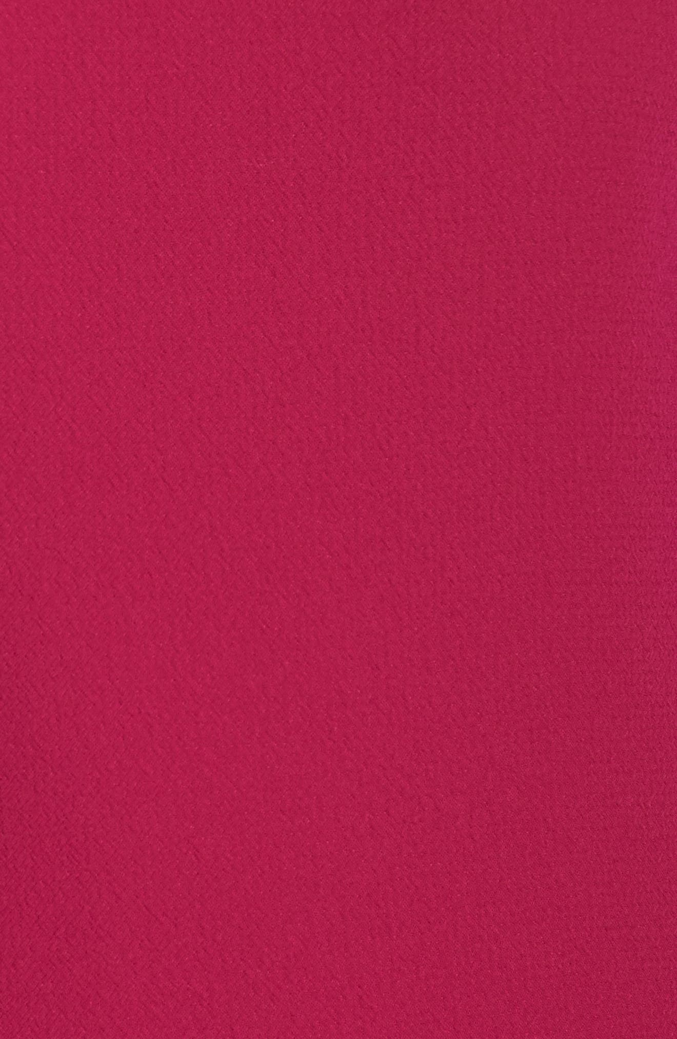 Bell Sleeve Fit & Flare Dress,                             Alternate thumbnail 5, color,                             Magenta