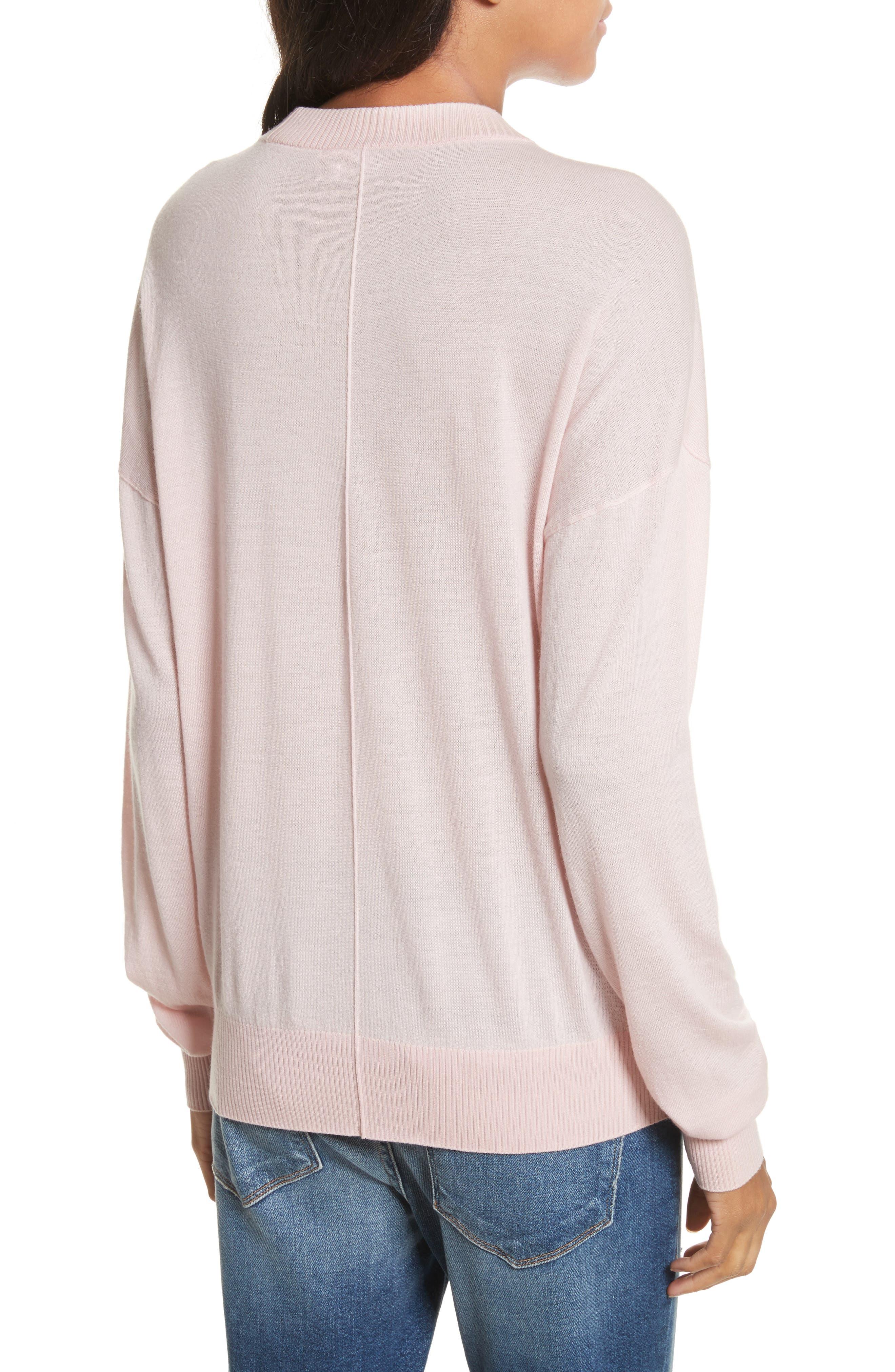 True Crewneck Wool Sweater,                             Alternate thumbnail 2, color,                             Powder Pink