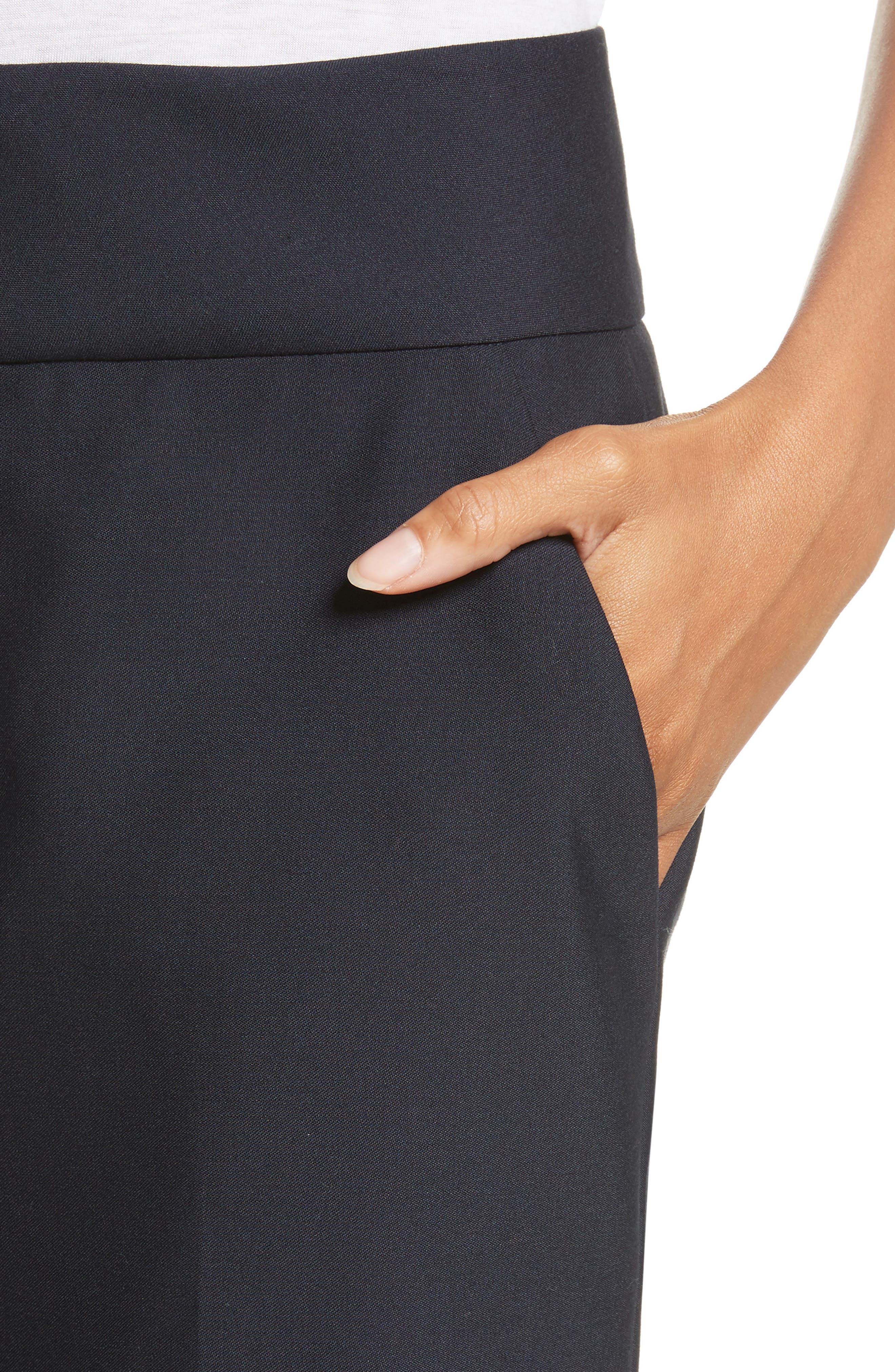 True Tux Wool Pants,                             Alternate thumbnail 5, color,                             Navy