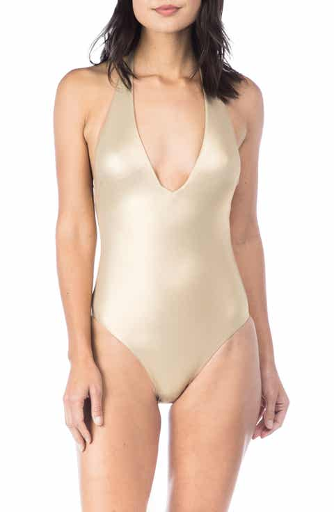 Trina Turk Golden Medallion One-Piece Swimsuit
