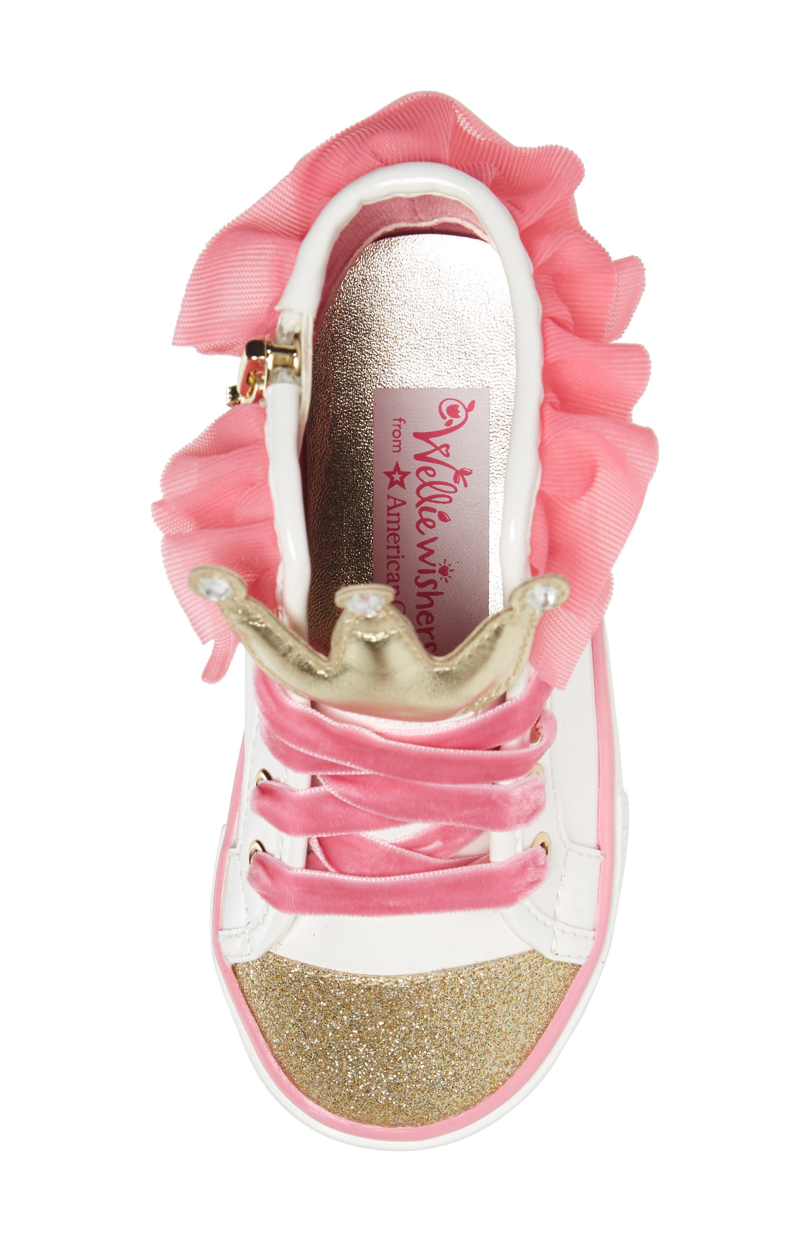 Alternate Image 5  - WellieWishers from American Girl Ashlyn Crown High Top Sneaker (Walker, Toddler, Little Kid & Big Kid)