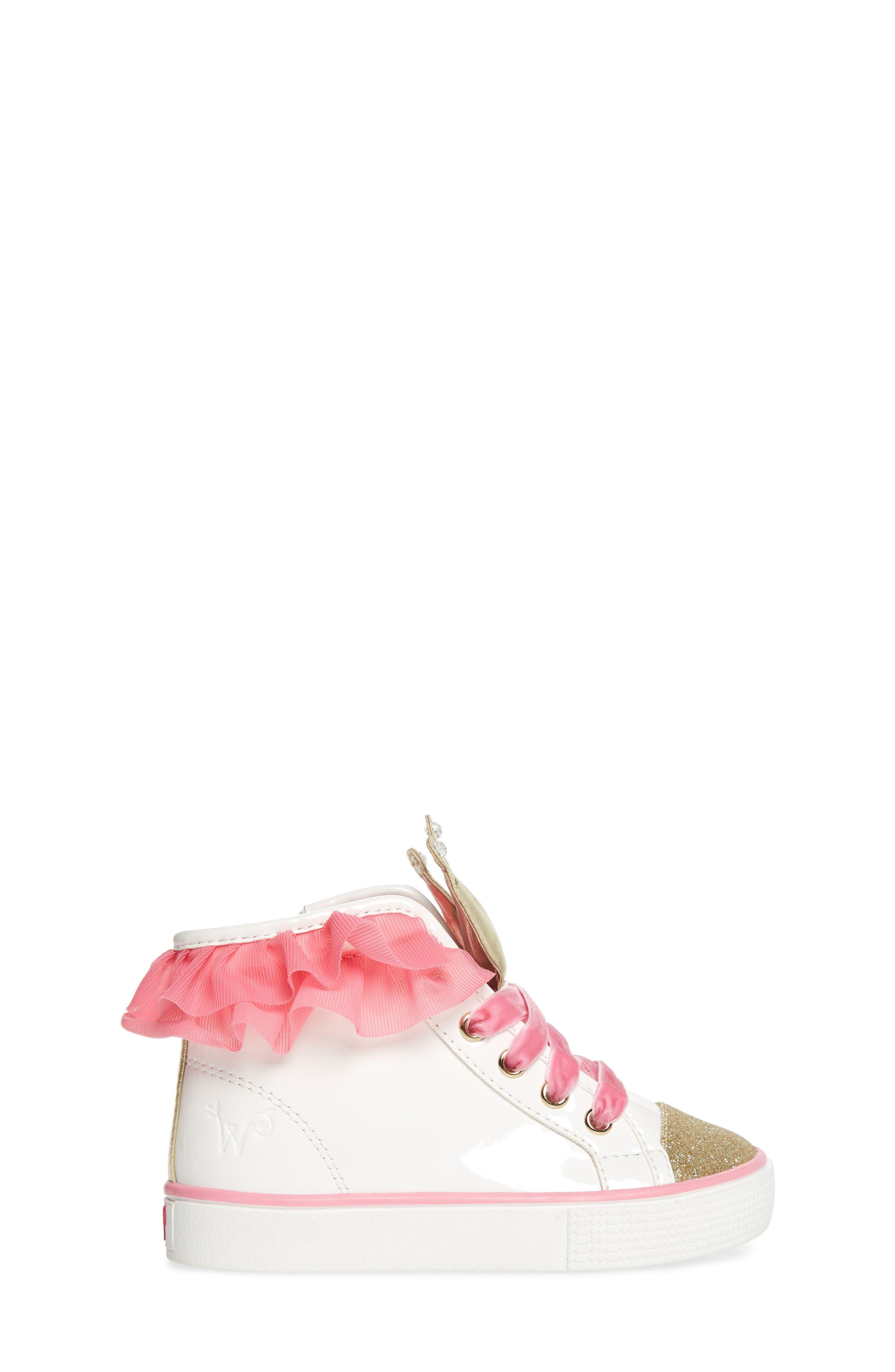 Alternate Image 3  - WellieWishers from American Girl Ashlyn Crown High Top Sneaker (Walker, Toddler, Little Kid & Big Kid)