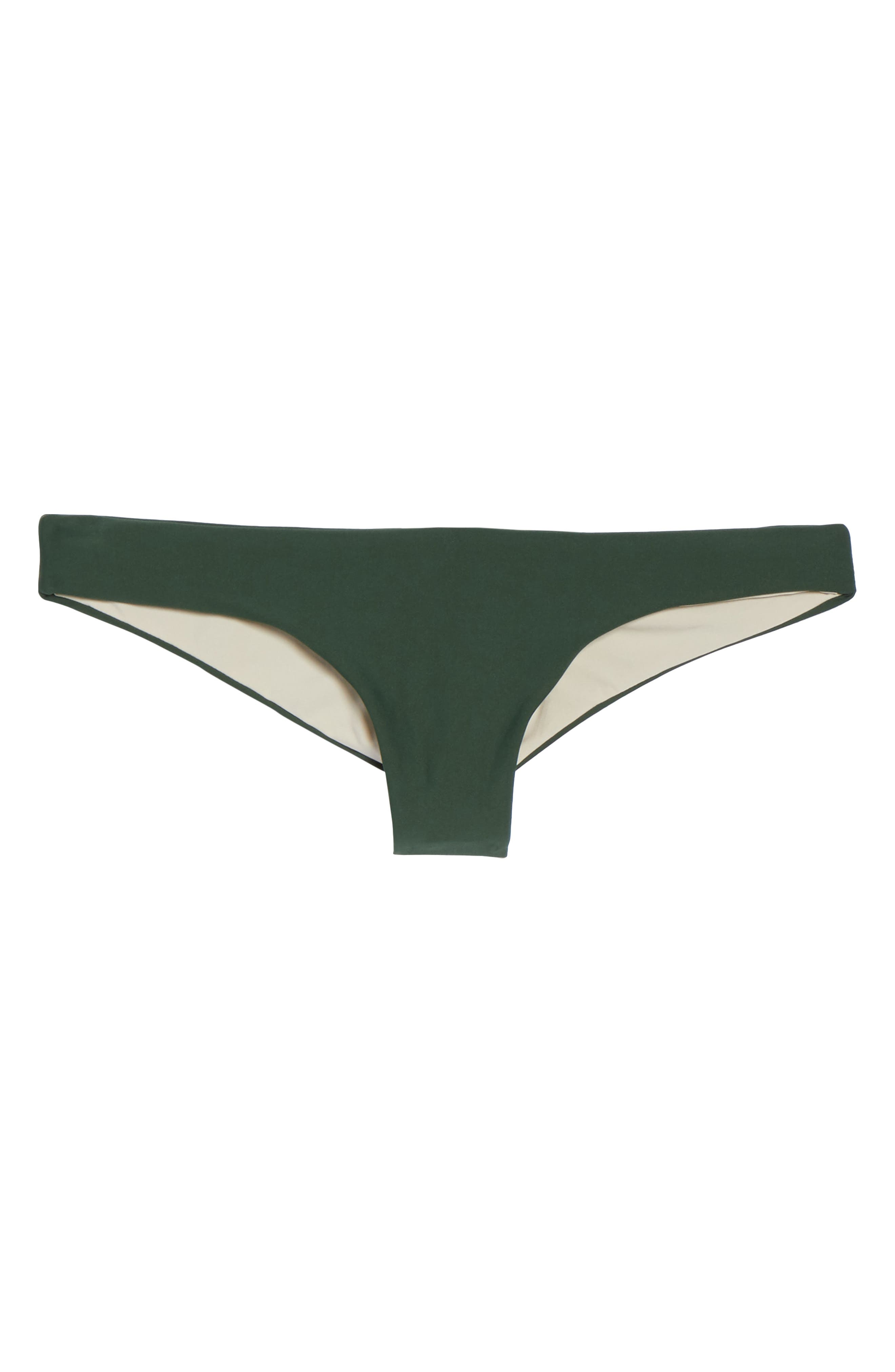 Ruched Bikini Bottoms,                             Alternate thumbnail 6, color,                             Army