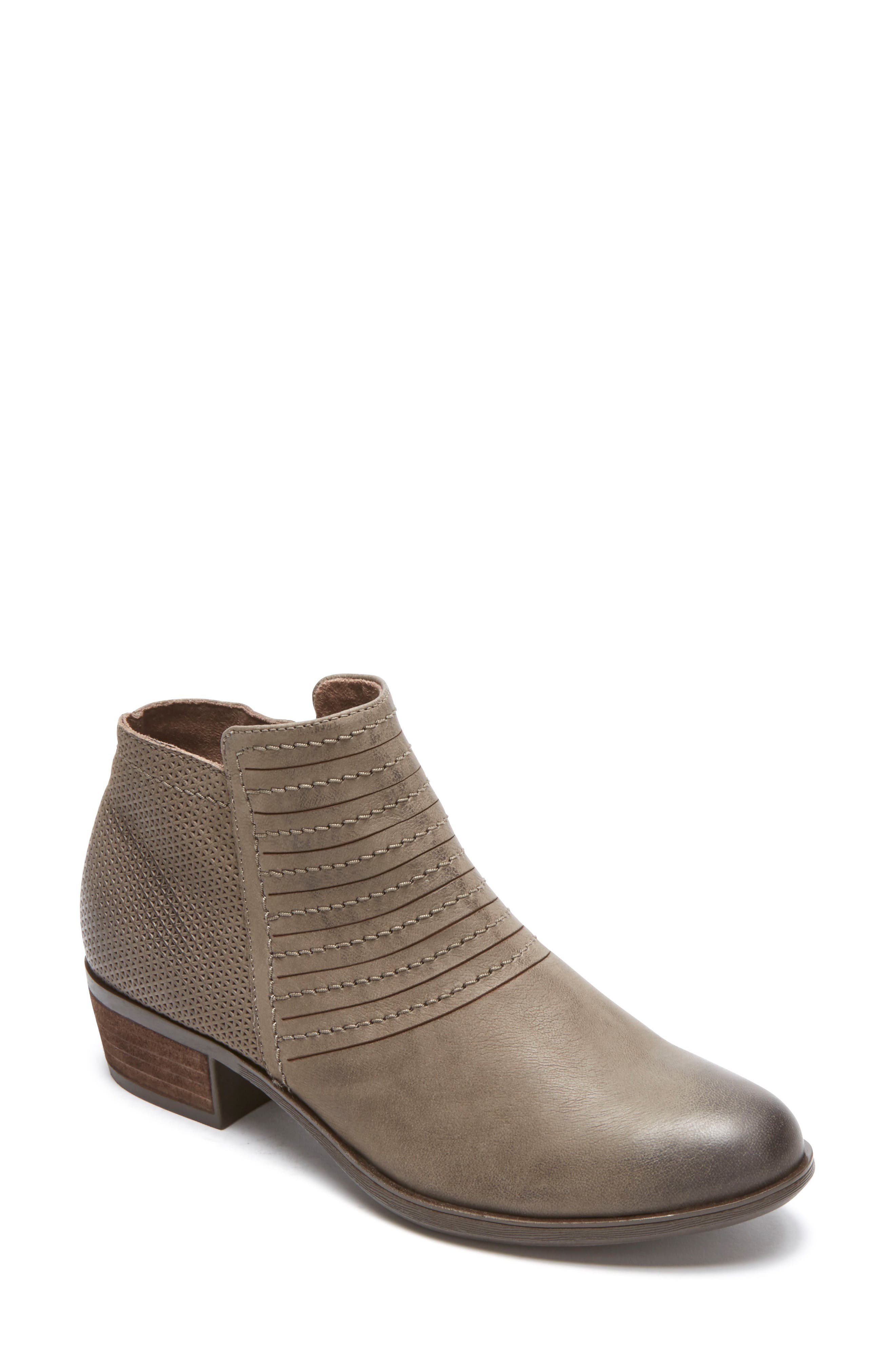 Vanna Strappy Bootie,                             Main thumbnail 1, color,                             Olive Grey Nubuck