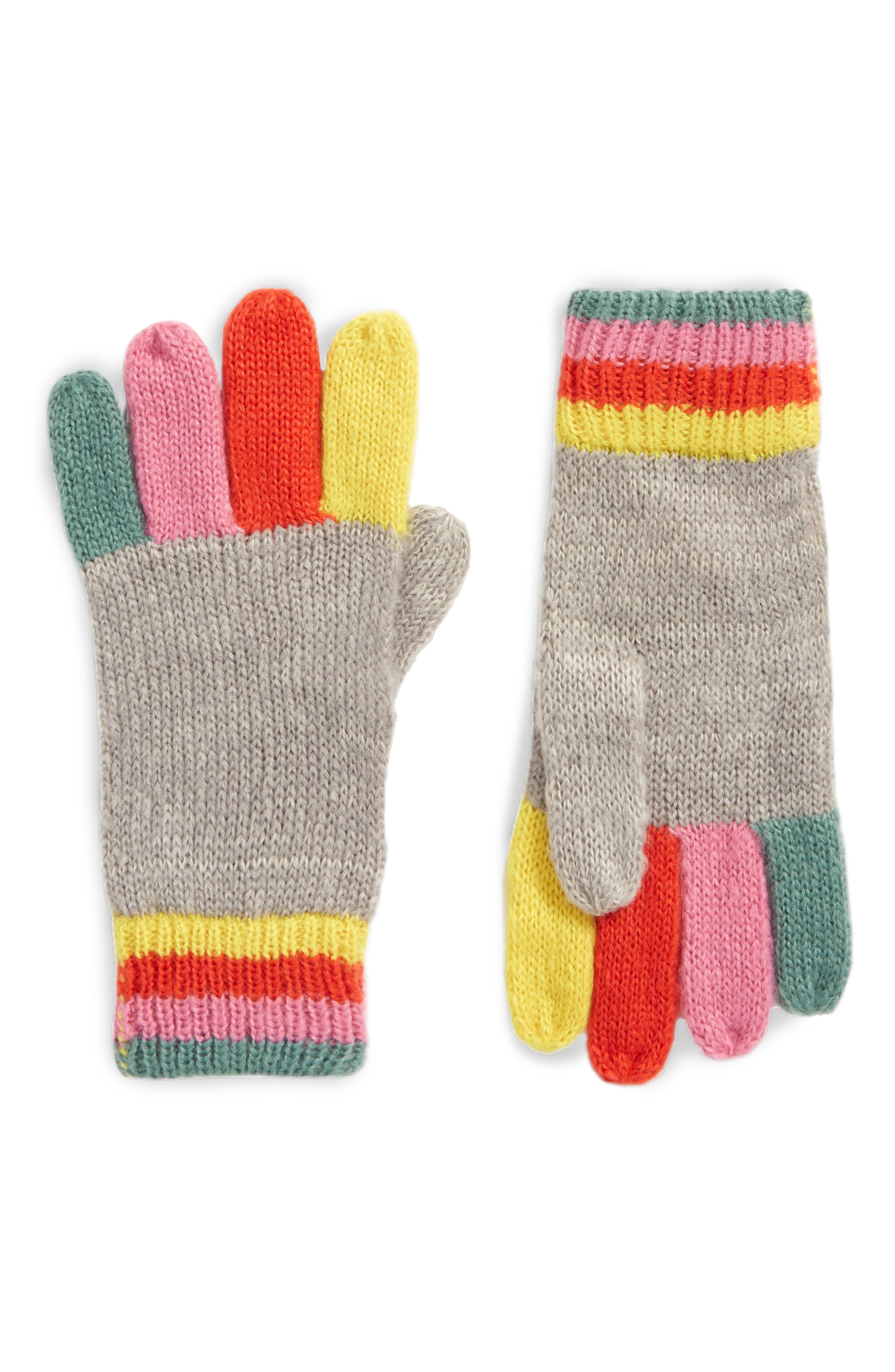 Mini Boden Rainbow Gloves (Toddler Girls, Little Girls & Big Girls)