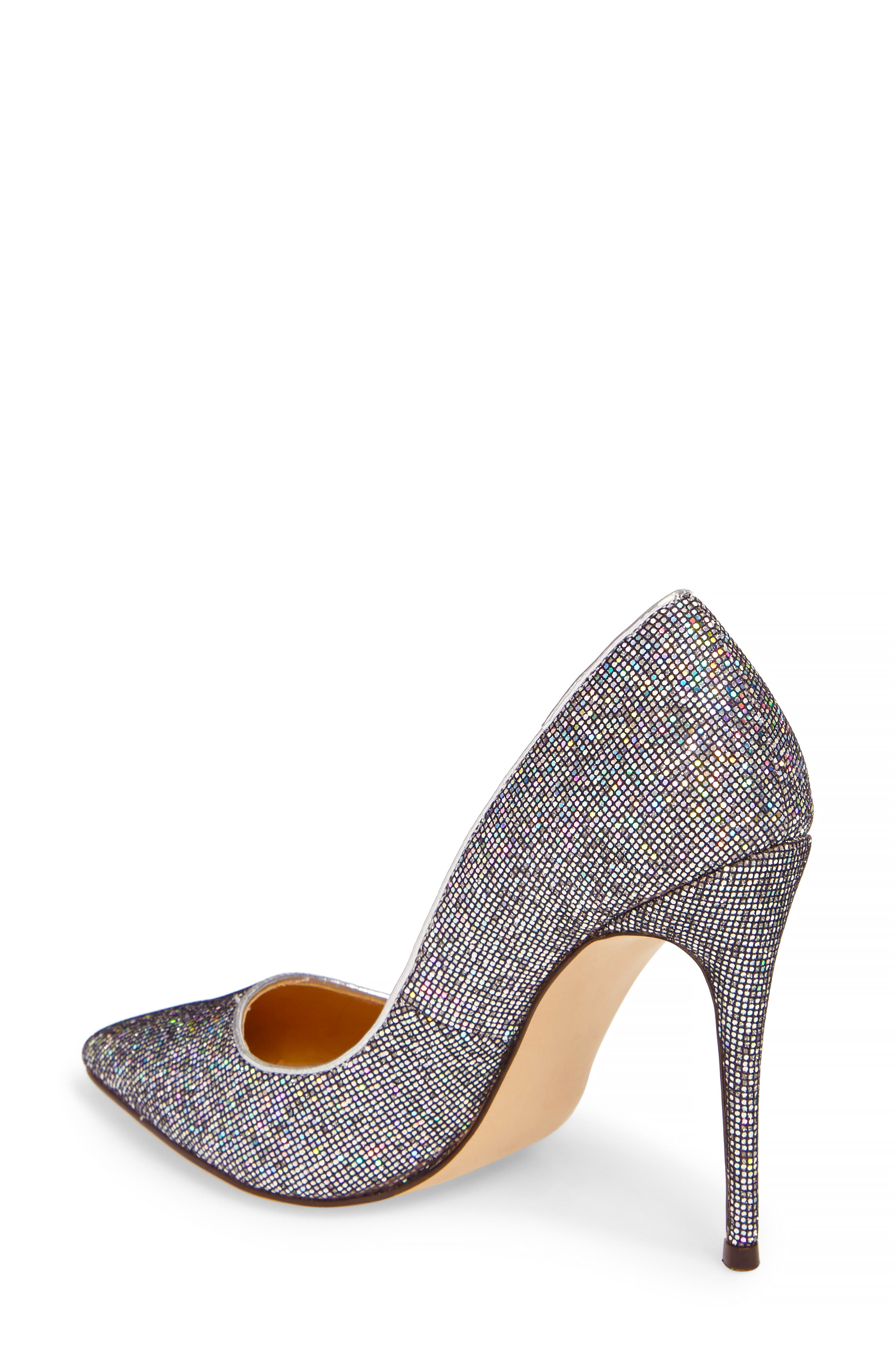 Daisie Pointy-Toe Pump,                             Alternate thumbnail 2, color,                             Black Multi Glitter