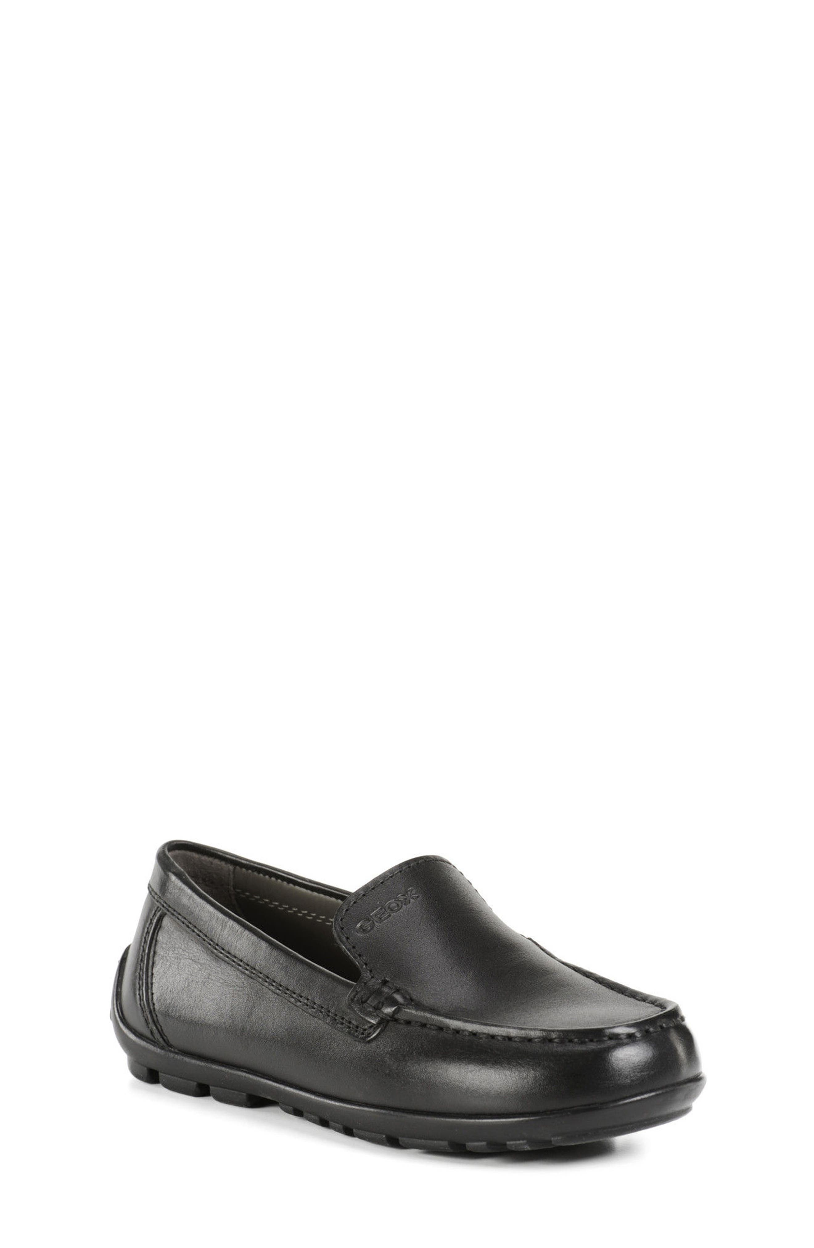 New Fast Driver Moccasin,                             Main thumbnail 1, color,                             Black Leather