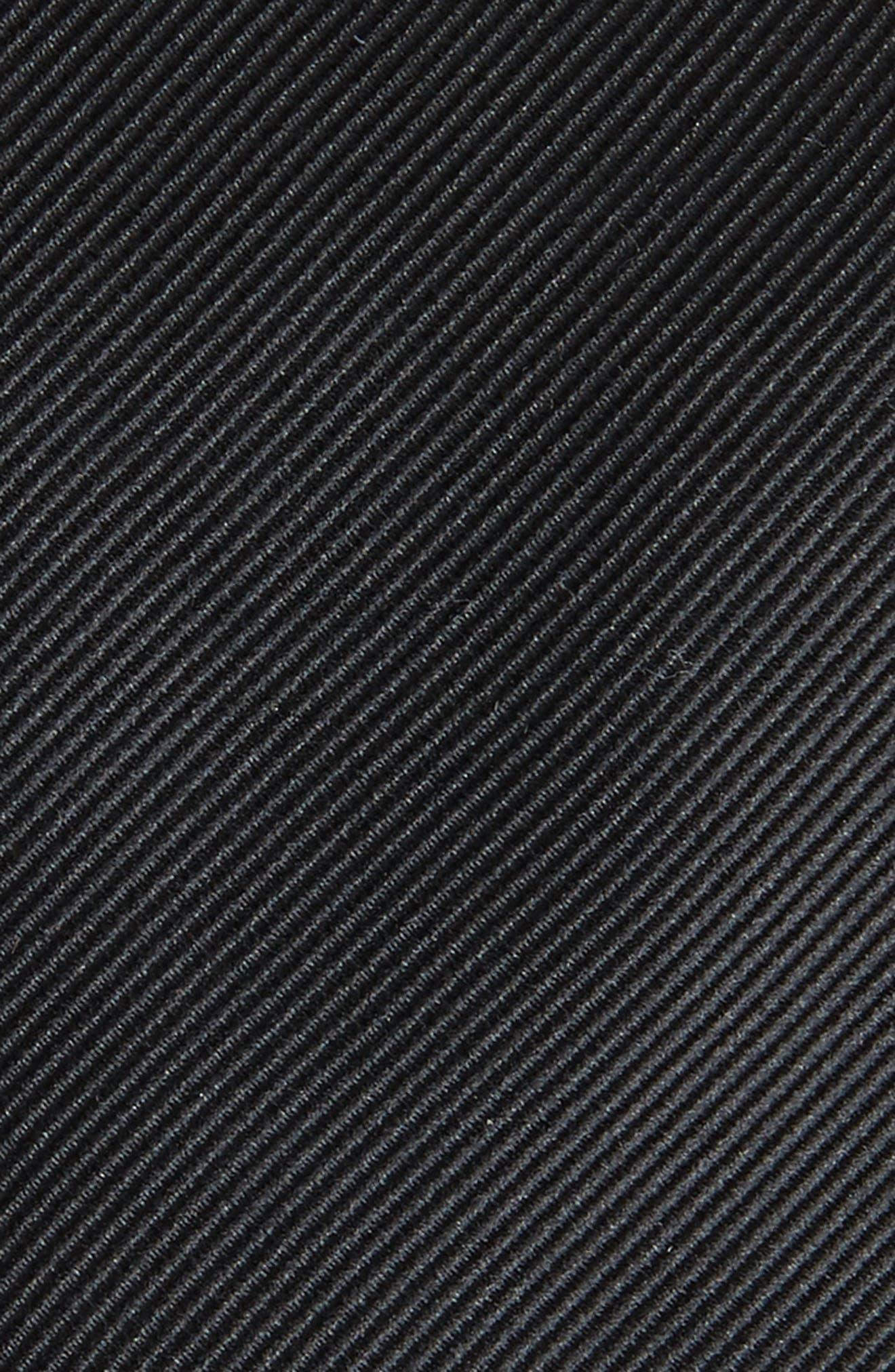 Black Woven Tie,                             Alternate thumbnail 4, color,                             Black