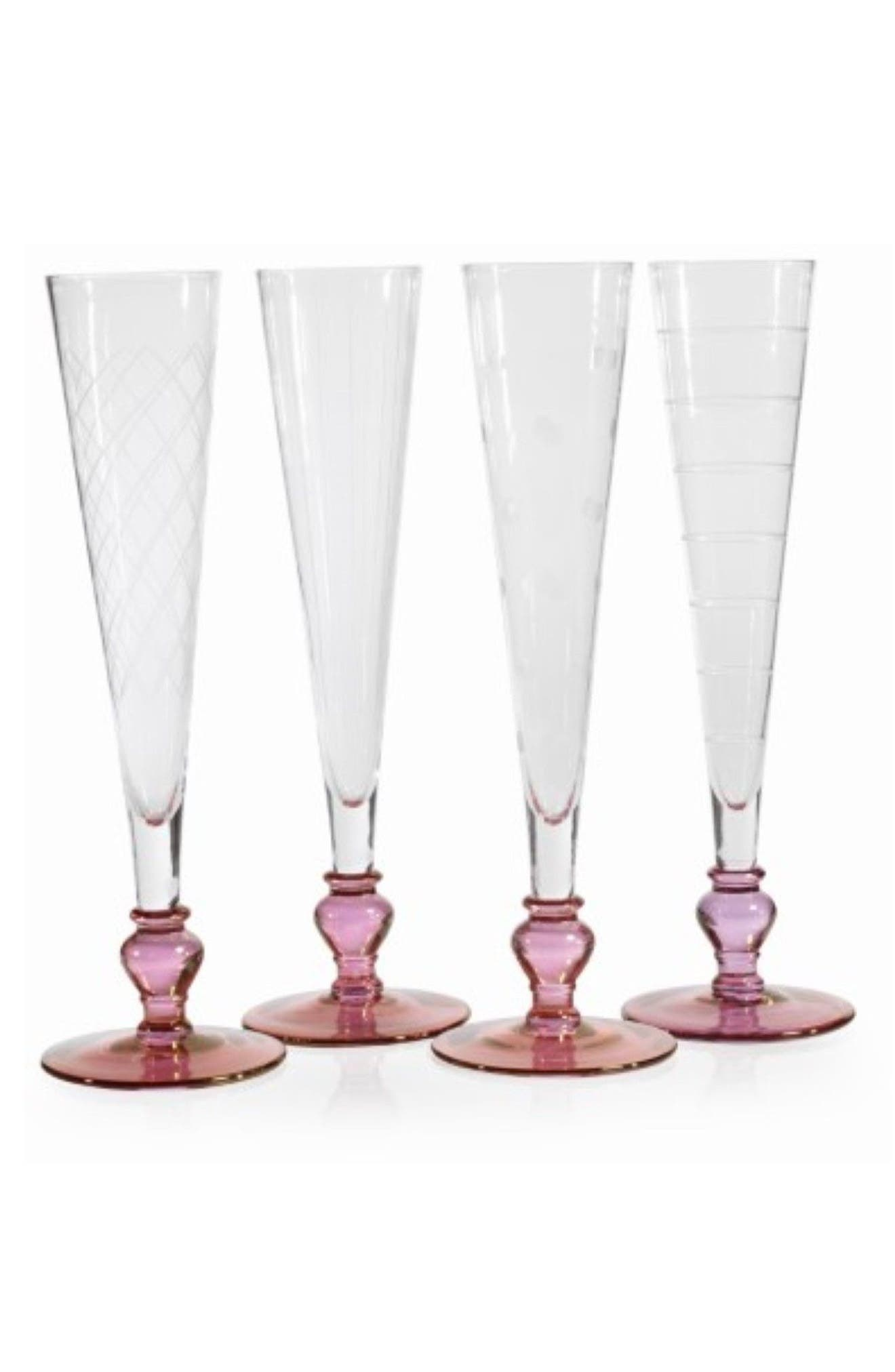 Tatiana Set of 4 Champagne Flutes,                         Main,                         color, Purple
