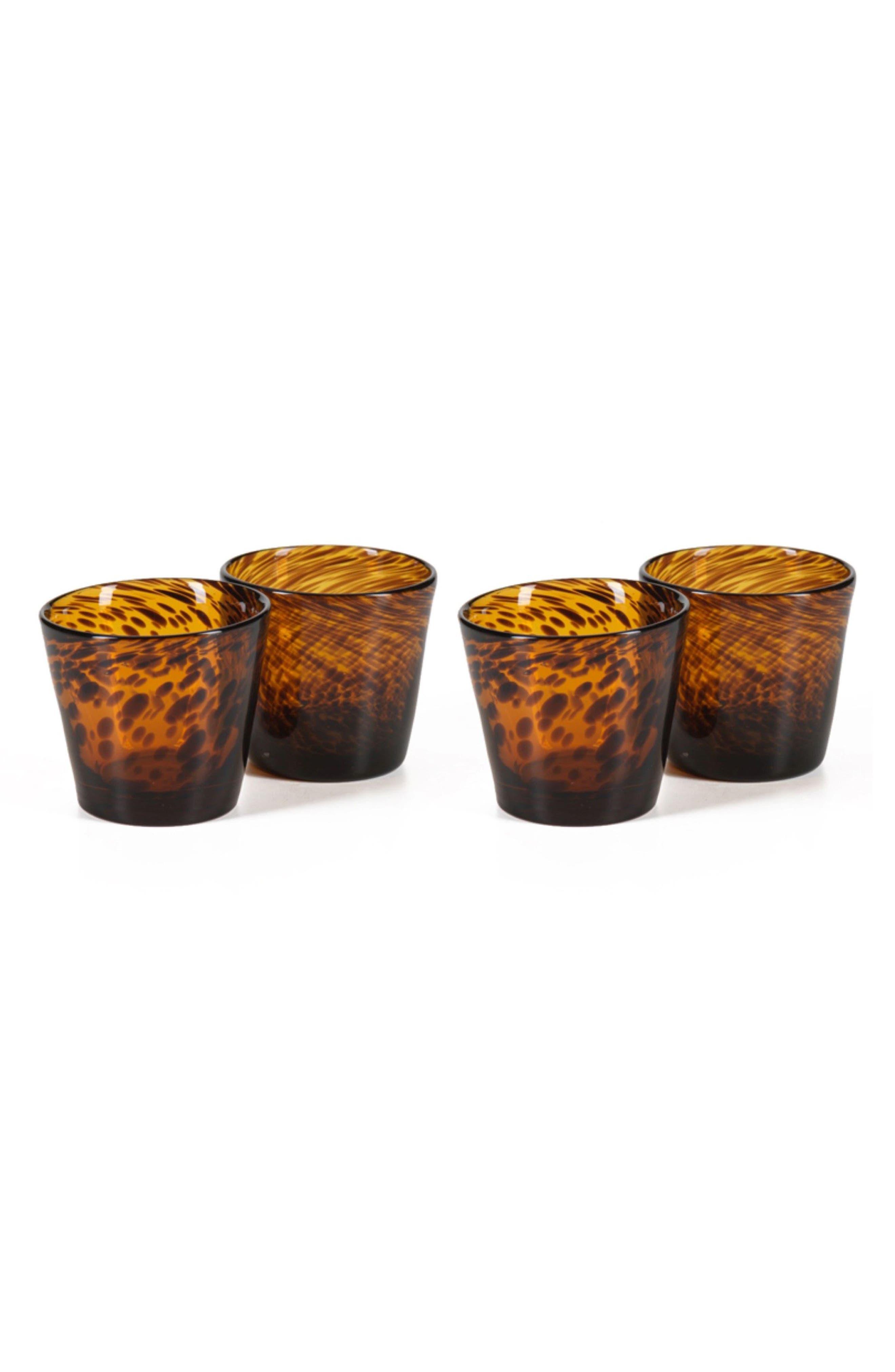 Sahara Set of 4 Tumblers,                         Main,                         color, Brown/ Orange/ Tan