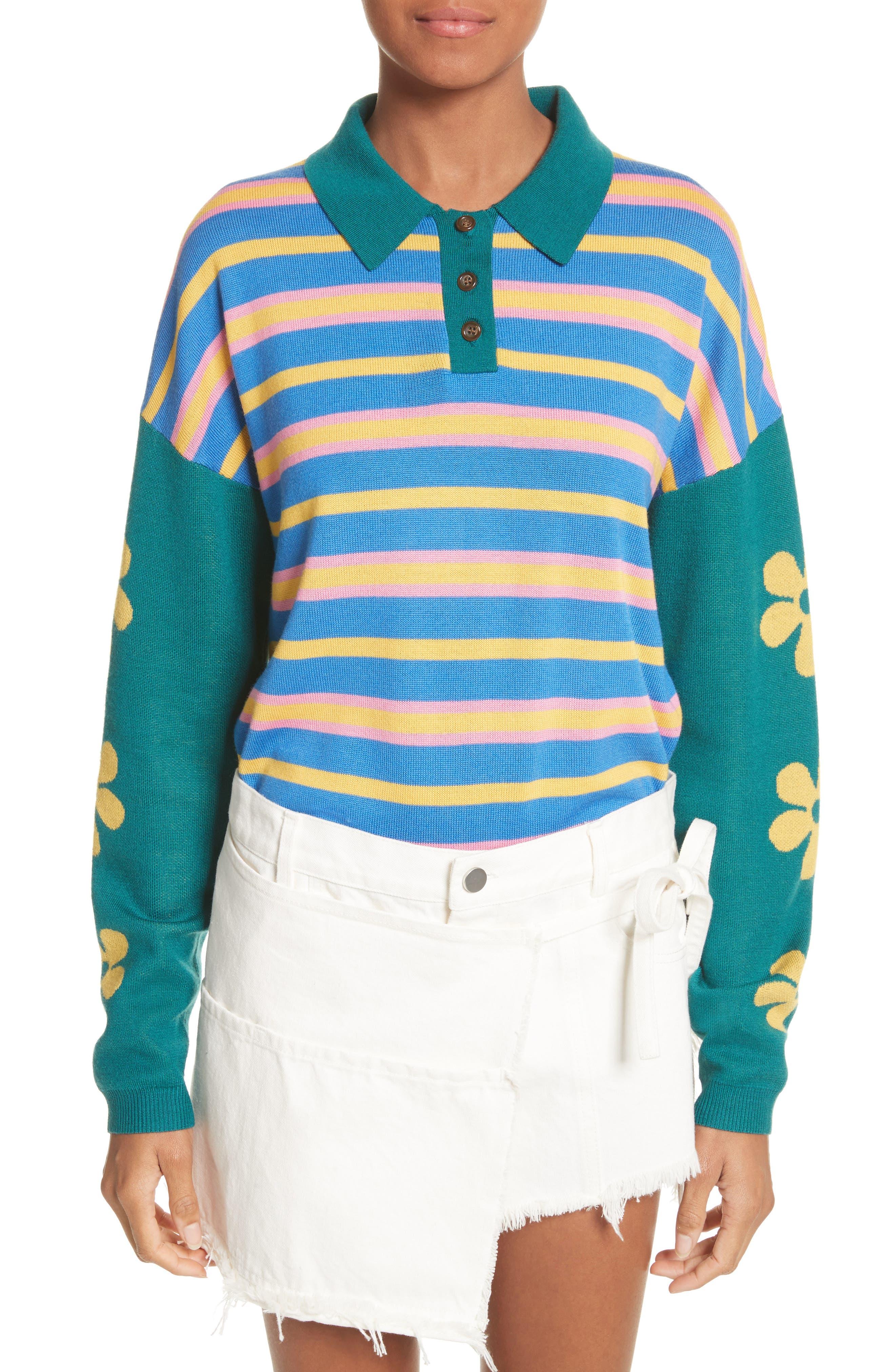 Alternate Image 1 Selected - Sandy Liang SpongeBob Polo Sweater