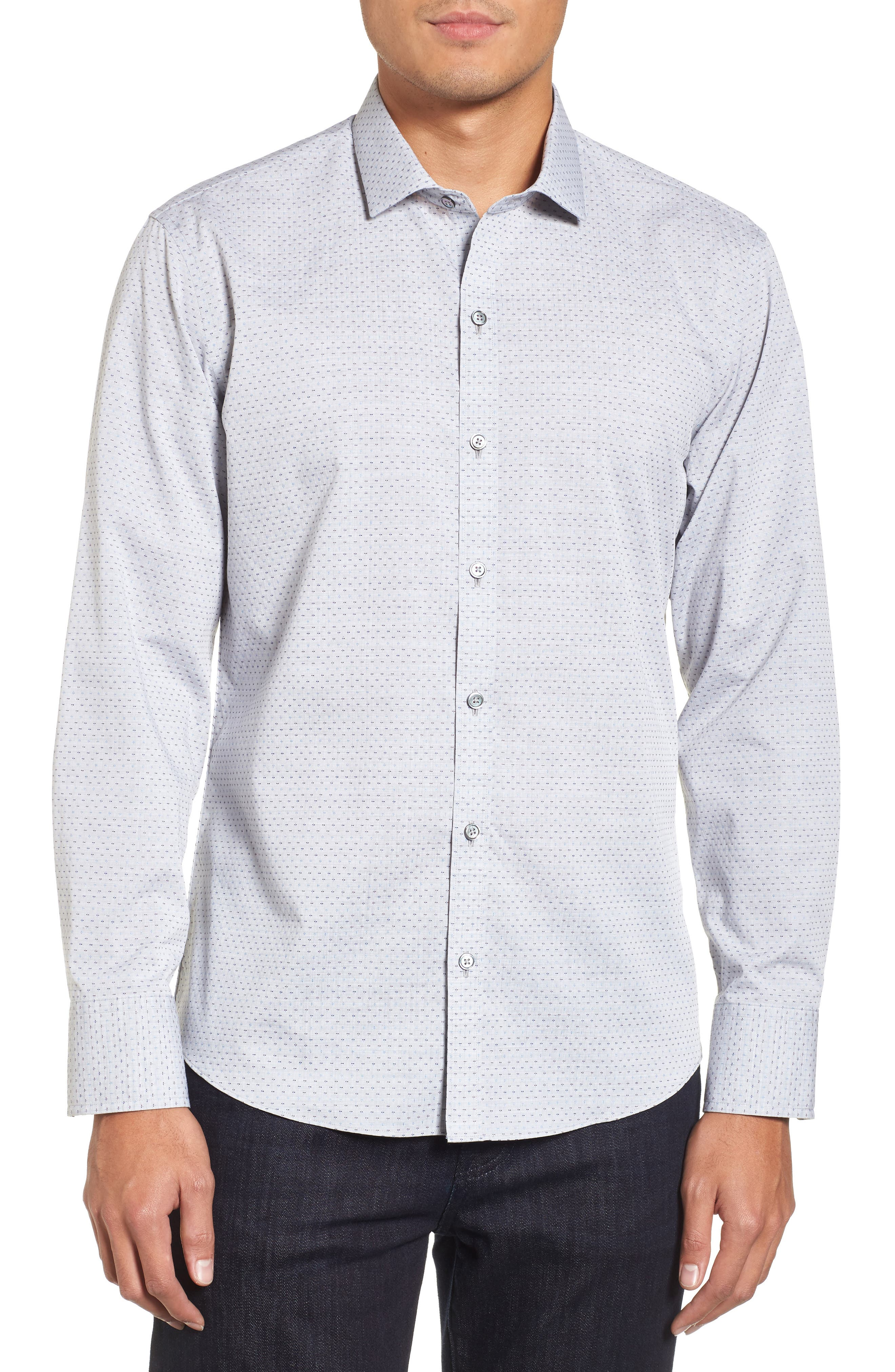Alternate Image 1 Selected - Zachary Prell Atila Slim Fit Dobby Woven Sport Shirt