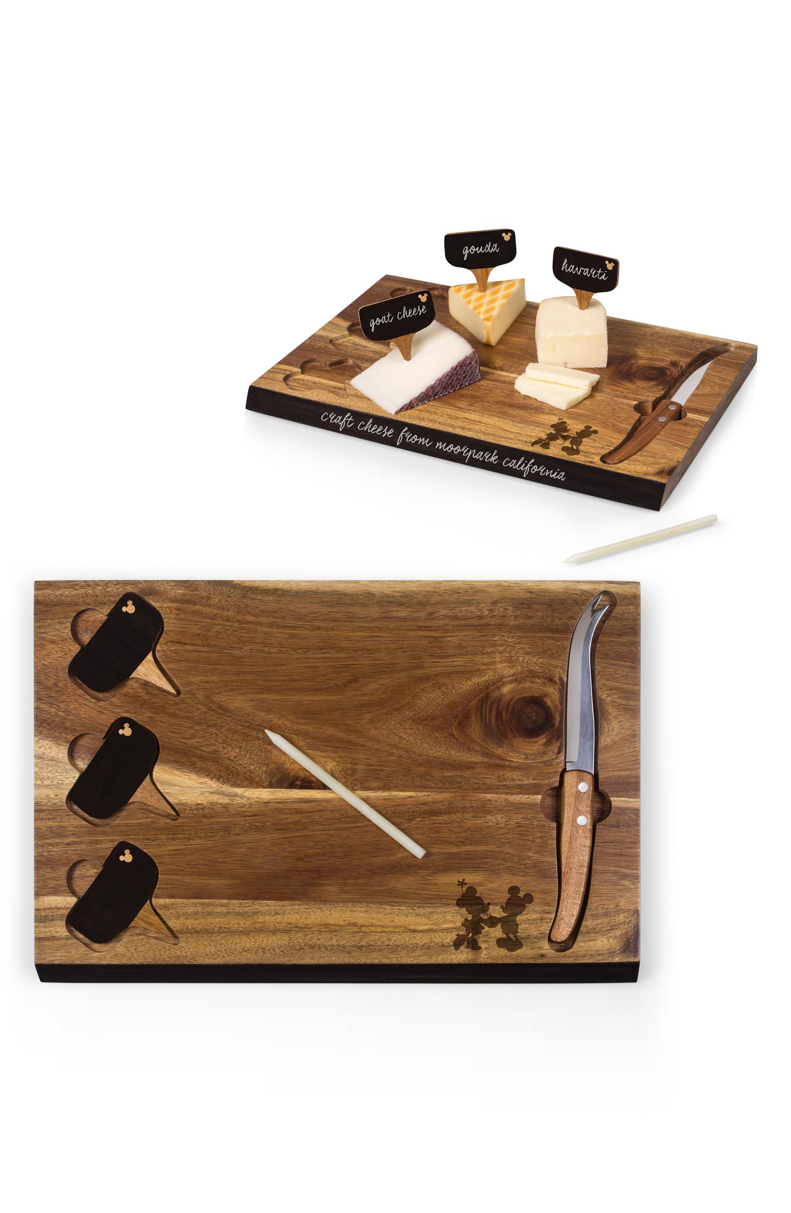 Pincic Time Disney 6-Piece Cheese Board Set,                             Alternate thumbnail 3, color,                             Brown