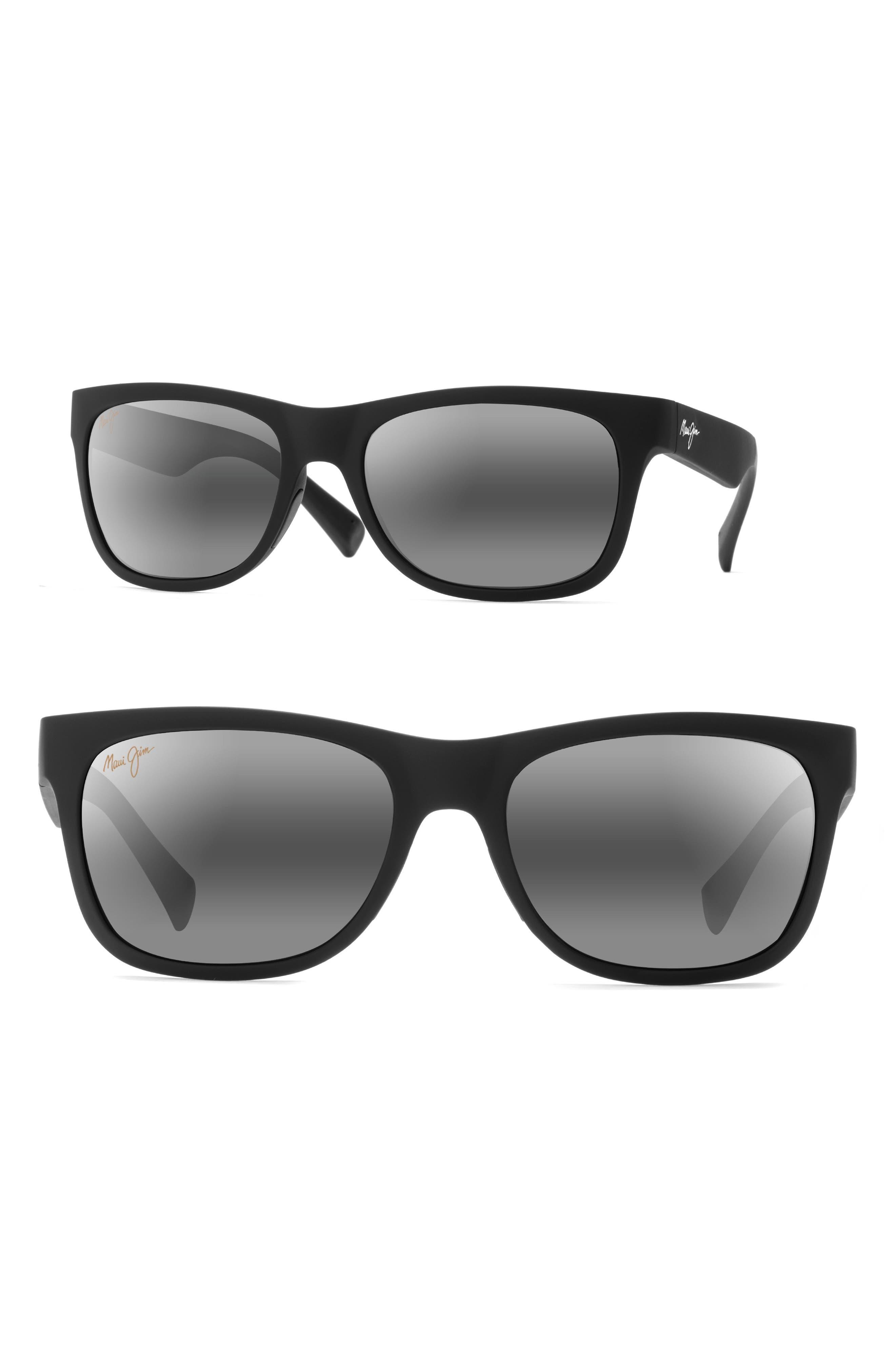 Kahi 58mm PolarizedPlus2<sup>®</sup> Sunglasses,                             Main thumbnail 1, color,                             Matte Black/ Neutral Grey